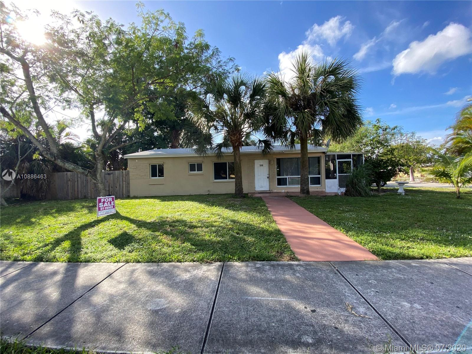 Great property on corner lot, roof and A/C about 2 years old, new bathroom.