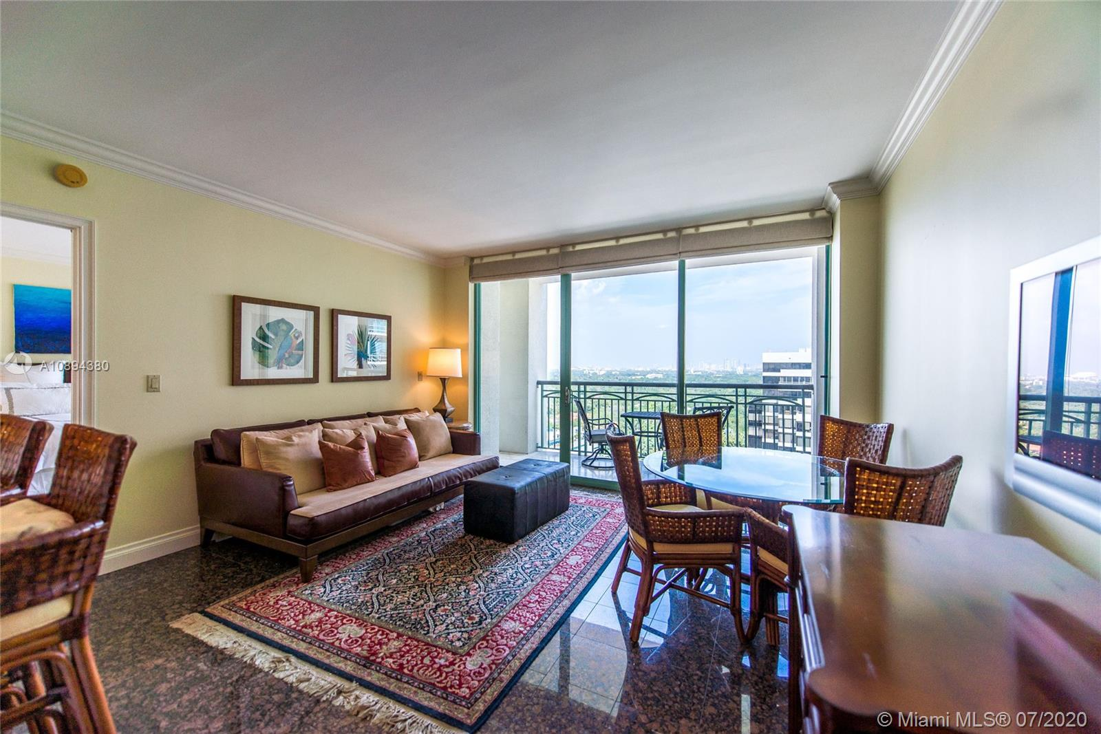 """Best pricing in the building for a 1BR/1.5BA and ready to sell today with beautiful new tile floors in Master Bedroom. Rarely-available unit in the """"08 line"""" with downtown Miami and north Grove views. Granite countertops in kitchen. Stainless steel appliances. New washer/dryer and dishwasher. Expansive master bath with marble floors & counter, bidet and separate shower/bath. Two walk-in closets. Elegant powder room with Venetian plaster & custom mirrors. Assigned parking space on upper level, or use hotel valet for your convenience. Enjoy all Hotel amenities including room service, Isabelle's Restaurant, The Commodore bar & lounge, concierge, spa, fitness center and pool. Private and secure Residences entry. Unit is vacant and easy to show. SELLER FINANCING AVAILABLE."""