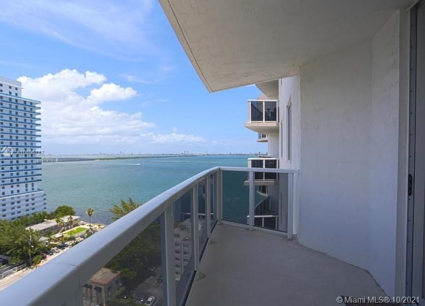 Investor's DREAM! Tenant Occupied until end of July 2022. Breathtaking views of Biscayne bay, Downtown Miami, and Miami Beach. Expansive terraces with glass balconies. Spacious walk-in closets in the bedrooms. Central a/c and heating unit. Sprinkler fire protection system. Tinted, energy efficient windows. Impact-resistant windows to meet hurricane codes. Stack-able washer and dryer. Kitchen Features: European styled cabinetry. Stainless steel refrigerator/freezer. Polished granite counter-tops. Stainless steel dishwasher. Microwave with hood Stainless steel glass cook-top range. Building features: Bicycle storage State-of-the-art fitness center with strength, cardiovascular and aerobics. Modern style pool with expansive deck and patio & much more