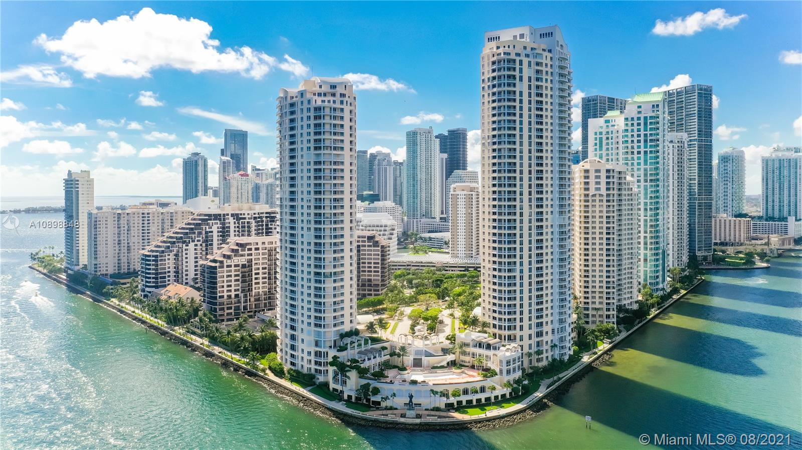 Breathtaking panoramic views from this recently remodeled unit! The best views Miami has to offer. Enjoy views of Key Biscayne, Fisher Island, Miami Beach, Port of Miami and the incredible Miami downtown skyline from the comfort of your home in the sky. Island living at its finest at the luxurious Two Tequesta Point. Tennis court, indoor basketball court, 2 racquetball courts, 2 story top of the line fitness center, renovated pool over looking Biscayne bay, conference rooms, children play room, complimentary valet, 1.3 mil walk/jogging path around the island.