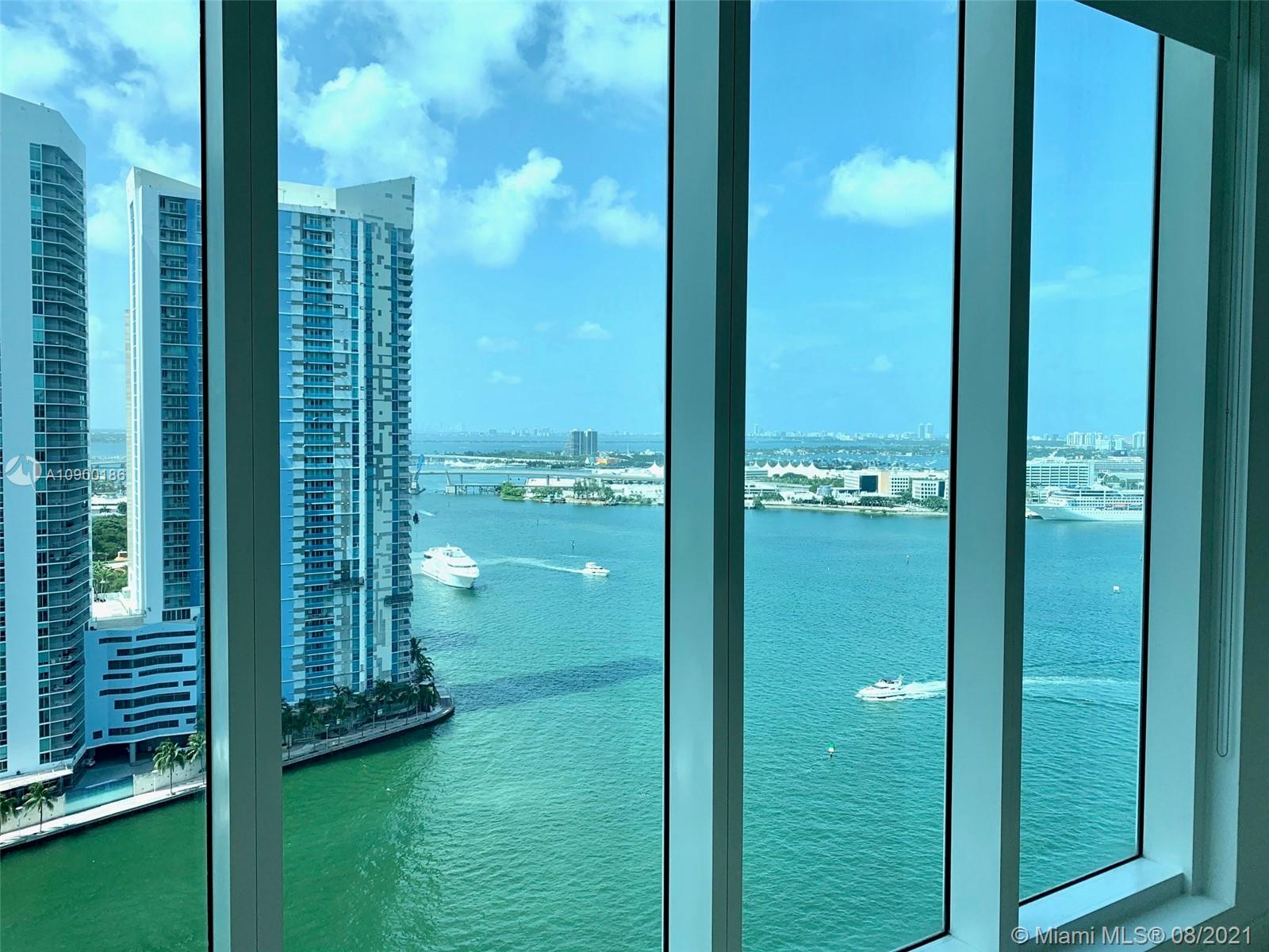 Spectacular 3 bedrooms 3.5 bathrooms flow-through unit with direct city and bay views. Asia is a luxury condominium in Brickell Key Island. The corner unit has a 180-degree breathtaking view of the ocean, Biscayne Bay and Miami Skyline. The unit is featuring private elevators, 12-foot ceiling, gourmet kitchen, wine cooler, built-in espresso machine, Miele ovens, subzero refrigerator.