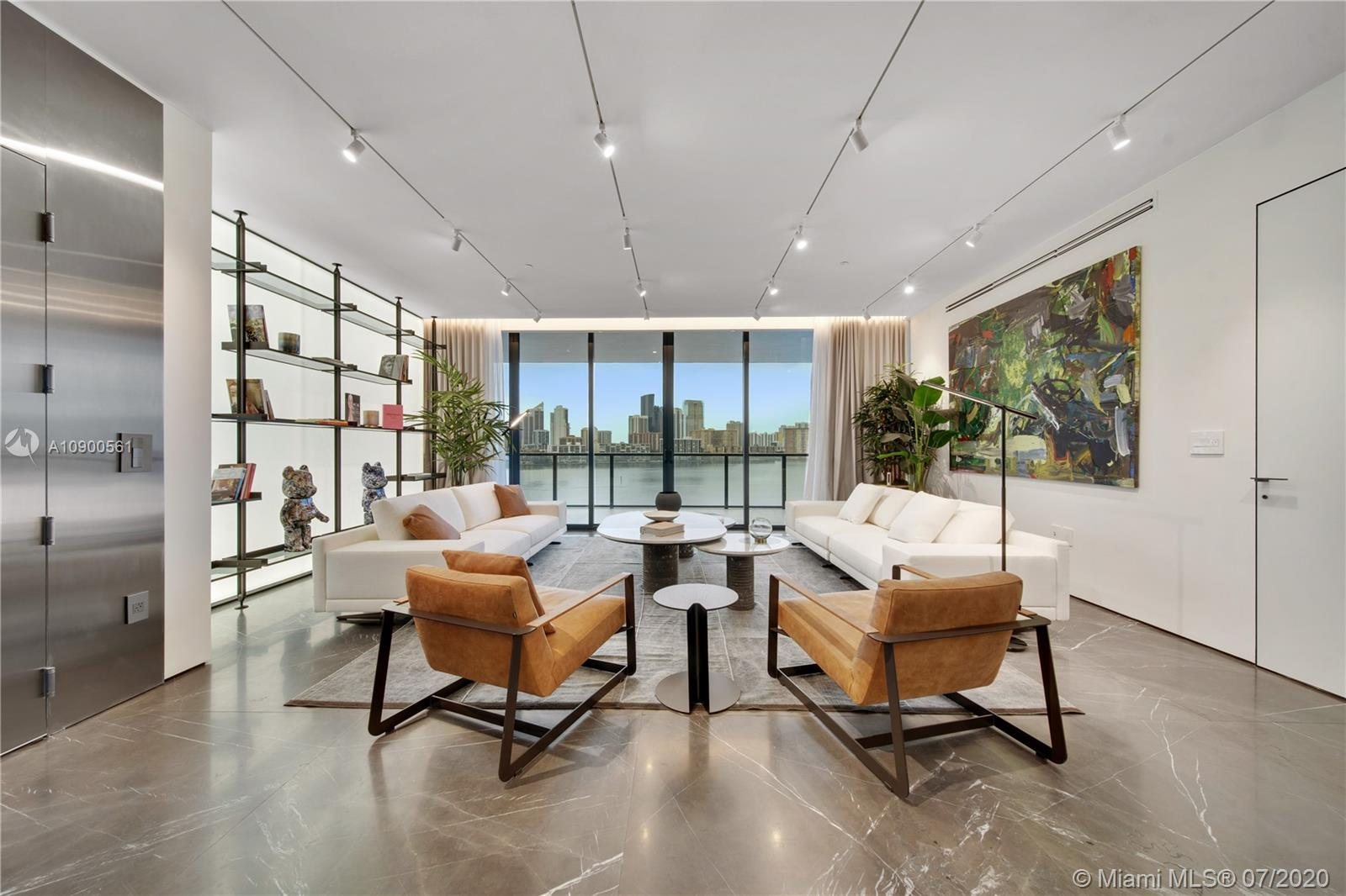 Explore this impressive, turnkey unit at Prive Aventura. Three bedrooms + four-bath + maids quarters with bathroom attached + powder room. Finest Italian furniture and finishes: imported Italian furniture, Rimadesio doors, Italian closets, custom made Italian panels - just to name a few. Rare Italian marble throughout the unit and wood flooring in the bedrooms. Many upgrades: improved kitchen with Miele appliances, all AC ducts upgraded to linear diffusers, dropped ceilings with LED lighting, blackouts, and custom window treatments throughout the unit. Don't forget to check out the virtual Video Tour. Call now to schedule a showing!