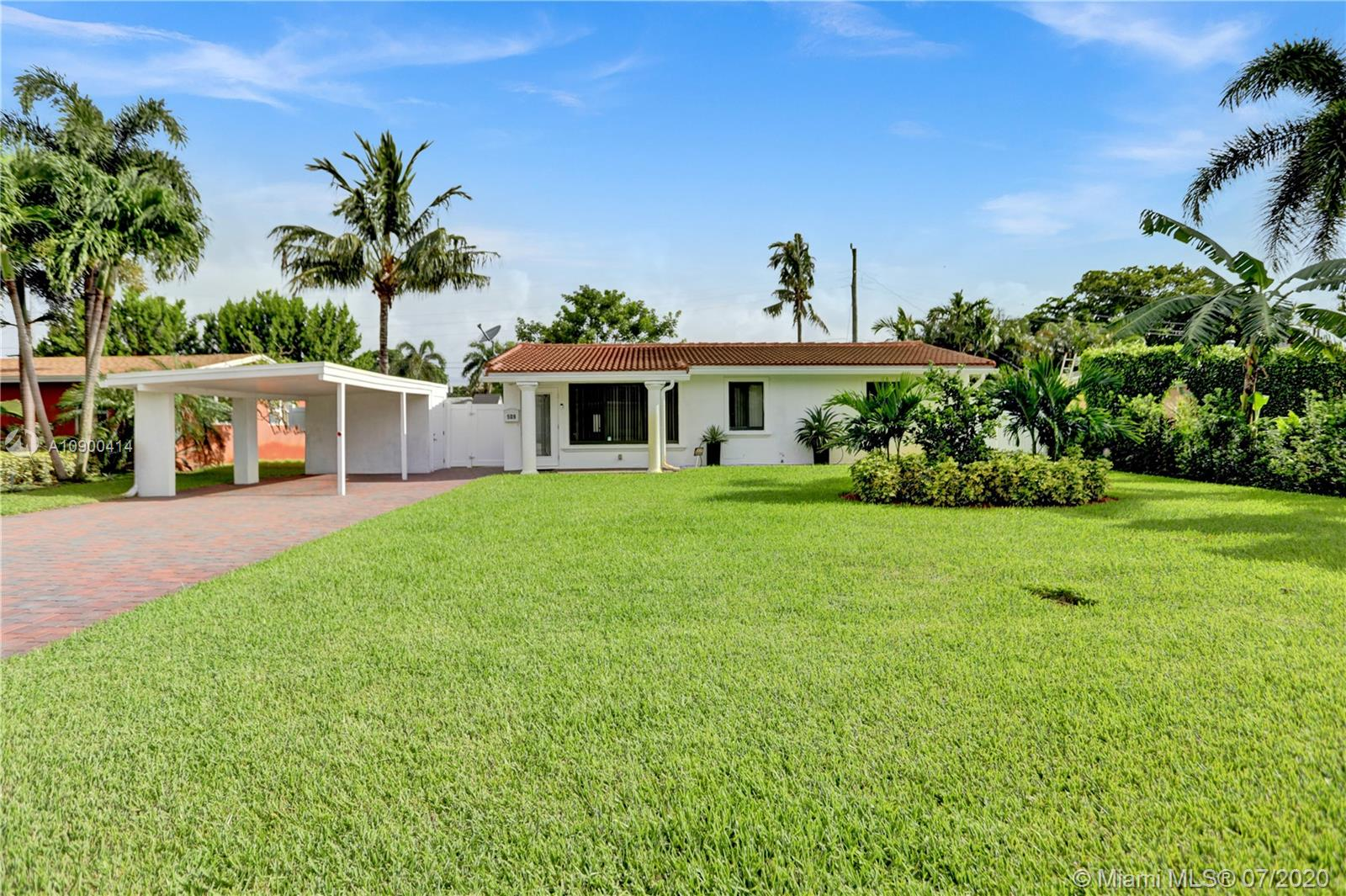 Available turnkey, this fully renovated 3 bedroom/2 bath home is perfect family living or investment. Walk to schools & Wilton Manors Dr., home is centrally located on a large lot w/ lots of room for addition. Features include: salt water hot tub & heated swimming pool, BRAND NEW 3 TON A/C, 2 storage sheds, updated landscaping, ceramic tiles, cook's kitchen, interior washer & dryer, open concept w/ closed in Florida Room, (NOT represented in LA sq ft on listing) ideal for office/play area, impact windows, newer roof, carport, irrigation system, backyard fenced in by PVC, new appliances, licensed for short term rentals, new A/C, new tankless water heater. Wilton Manors is one of the most desirous neighborhoods in E. Lauderdale. Seller says sell! Two couches in photos do not convey.