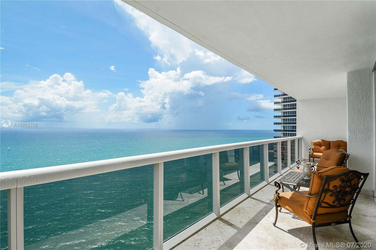 Spectacular Upper Penthouse On The 43Rd Floor Directly Facing The Ocean. Beachfront In The Fantastic Beach Club. Enter + Immediately Throughout See Direct Unobstructed Ocean Views To Take Your Breath Away. Just Redone, Furnished And Completed. Being Sold Turnkey! Split Spacious Floor Plan. Large Living Area With State Of The Art Open Gourmet Kitchen. Large Master Suite With Large Closet + Master Bath. Move In With Your Toothbrush - Fully Equipped - New New New! Directly On The Ocean W/ Beach Club Service - 5 Star Amenities, Heated Pool, Huge Spa, Gym. Near Everything - Walk To Shops, Restaurants, Houses Of Worship, Minutes To Int'l Airports!
