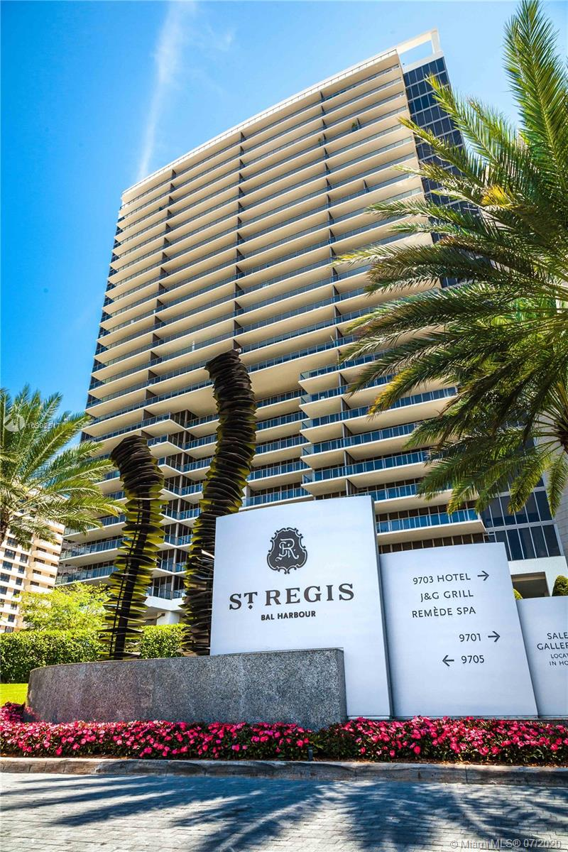 BACK ON THE MARKET!!! Spacious and sophisticated 3/3.5 residence in luxurious St Regis, right in the heart of Bal Harbour. The residence is professionally designed & decorated by well known designer Steven G, and includes all the finishes and touches, custom made art work, and accessories. The unit combines contemporary design with a range of textures in a soft, neutral color palette with 1st class panoramic ocean and city views.Bright and airy beach inspired concept brings wood tones, cozy fabrics, hi-end furnishings together, creates a breathtaking space and lifestyle! Enjoy the ultimate luxury living with 5 star hotel and resort and have exclusive access to amenities like private pools, concierge, oceanfront cabanas, and indulging spa!!!
