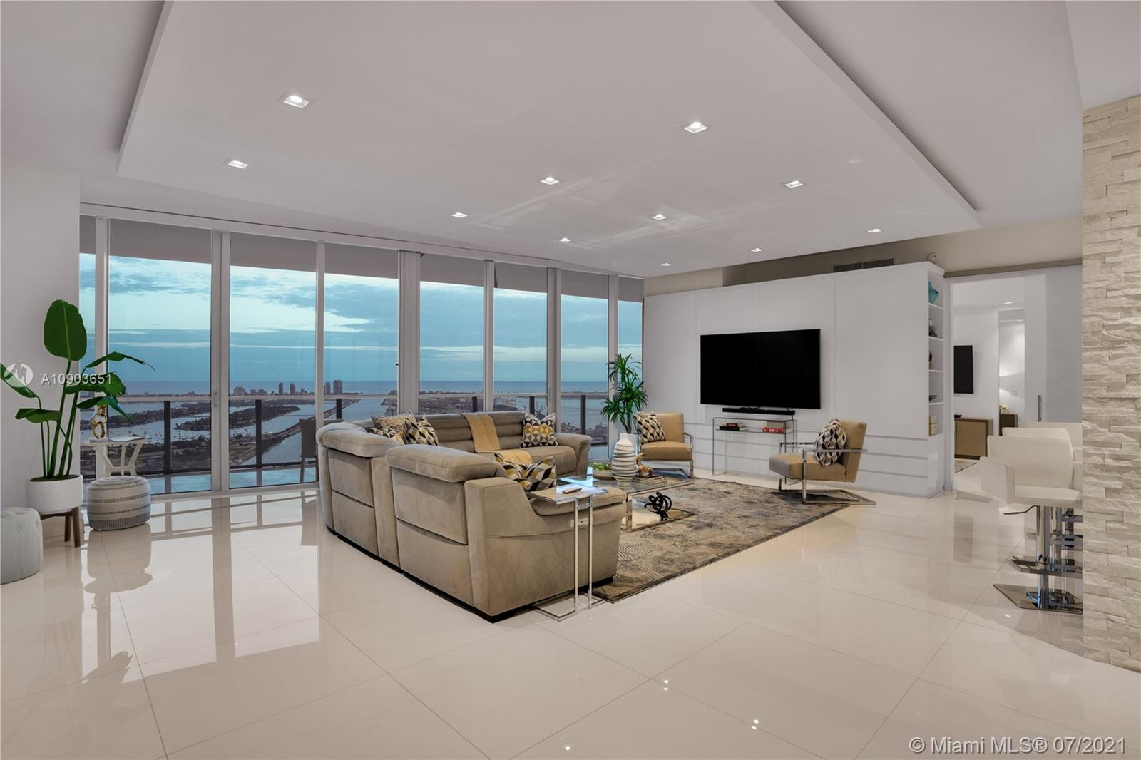 One of a kind combined unit at Marquis Residences .This 4 bds/4.5 5603/5604 with 2,975 Sq Ft  units comes with 2 Master bedrooms & 2 very Large Junior Suits. Enjoy panoramic Bay & City views from this sky home with one of the largest terraces in the building. Finished white porcelain glass floors throughout. lacquer cabinets in kitchen and baths, upgraded lighting floating ceiling,  laundry room with 2 washers & 2 dryers, Custom frosted glass doors. This unit is perfect for entertaining with a total of 4 elevators that open right into the unit. Unit has 2 deeded parking spaces. Marquis offers 5 star amenities 24 hour security, concierge, valet, two pools, a spa, & fitness center. Walk to sports & cultural venues, entertainment, dining. Pet friendly. Easy to show Tenant has vacated th eunit