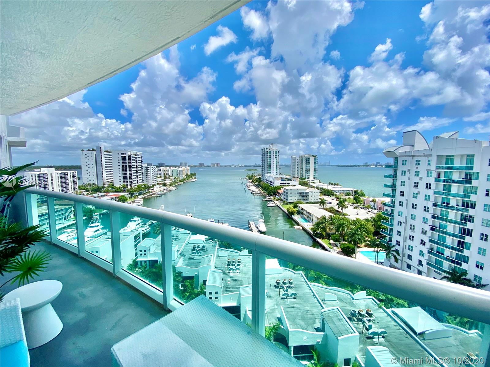 Waterfront living with amazing bay views from all rooms from this spacious bay front 2-bedroom condo with great floor plan and a large beautiful balcony.  Includes two car parking spaces.  Only a few minute drive to the beach. Property located conveniently between Miami Beach and Miami and the restaurants.  Master bedroom includes a  walk-in closet and beautiful bathroom. Great amenities; 2 pools, jacuzzi, valet,  fitness center, condo board planning to complete the Tiki hut amenity with barbeque etc. The best priced unit in the building. Cap rate could be close to 6% depending on the sale price plus possible value appreciation.