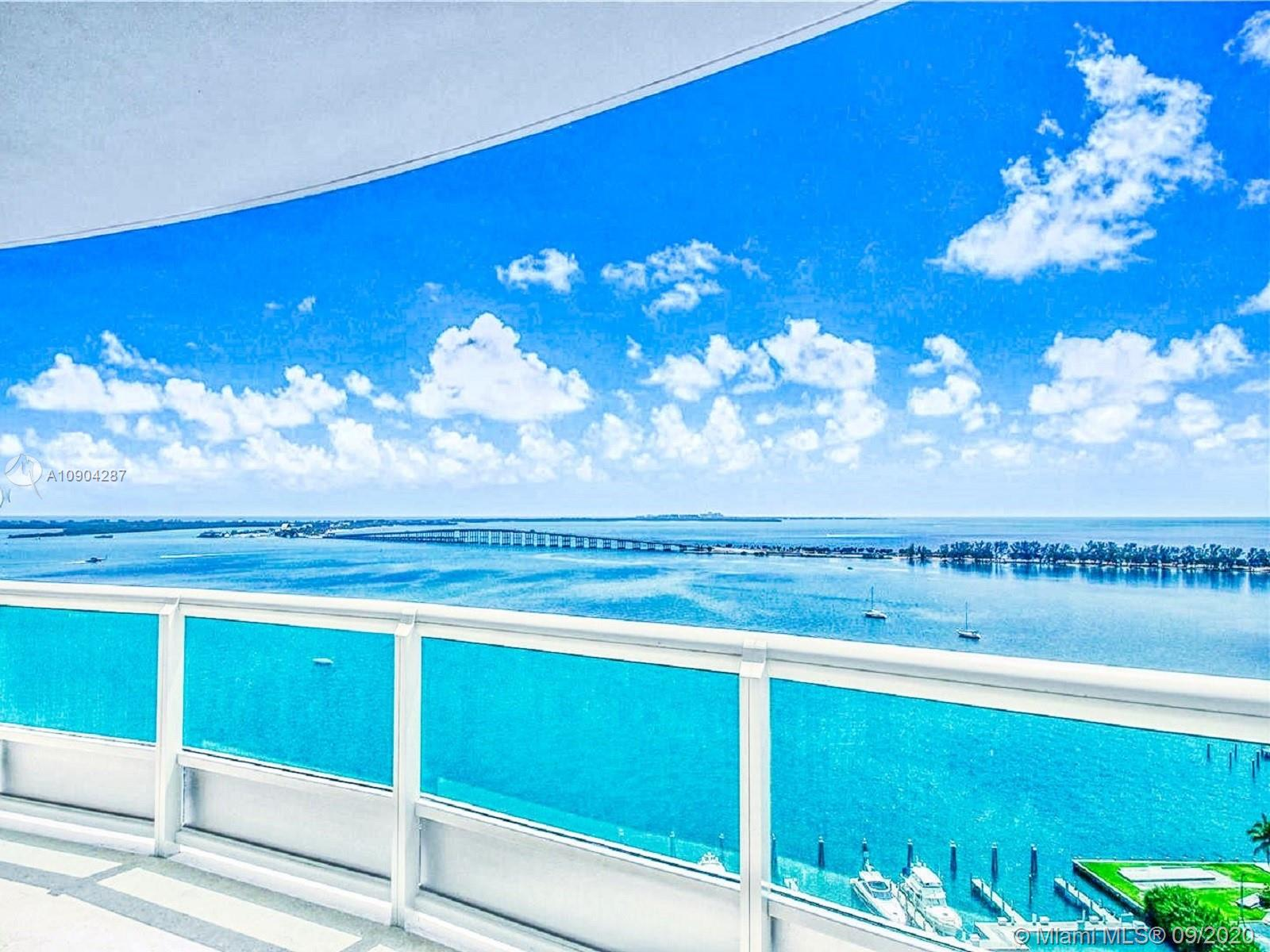 Santa Maria is one of Miami's luxurious residences and it offers its residents a luxury lifestyle developed by Ugo Colombo. Amazing all around views of the Ocean, bay, mesmerizing Skyline, and wide balconies where you can relax and enjoy the views with fresh and breathable air.  Renovated almost a year ago with Italian modern Venetian walls and custom venetian flooring  throughout the entire unit with mosaic design at the entrance/foyer and dining area. The kitchen is designed with the finest modern luxury Italian brand Snaidero. Condo has two private elevators, one with direct unit access and a private service elevator. This condo is one of the most unique condos in the building with its luxurious Italians designs, unique touches and breath taking views, you will fall in love right away.