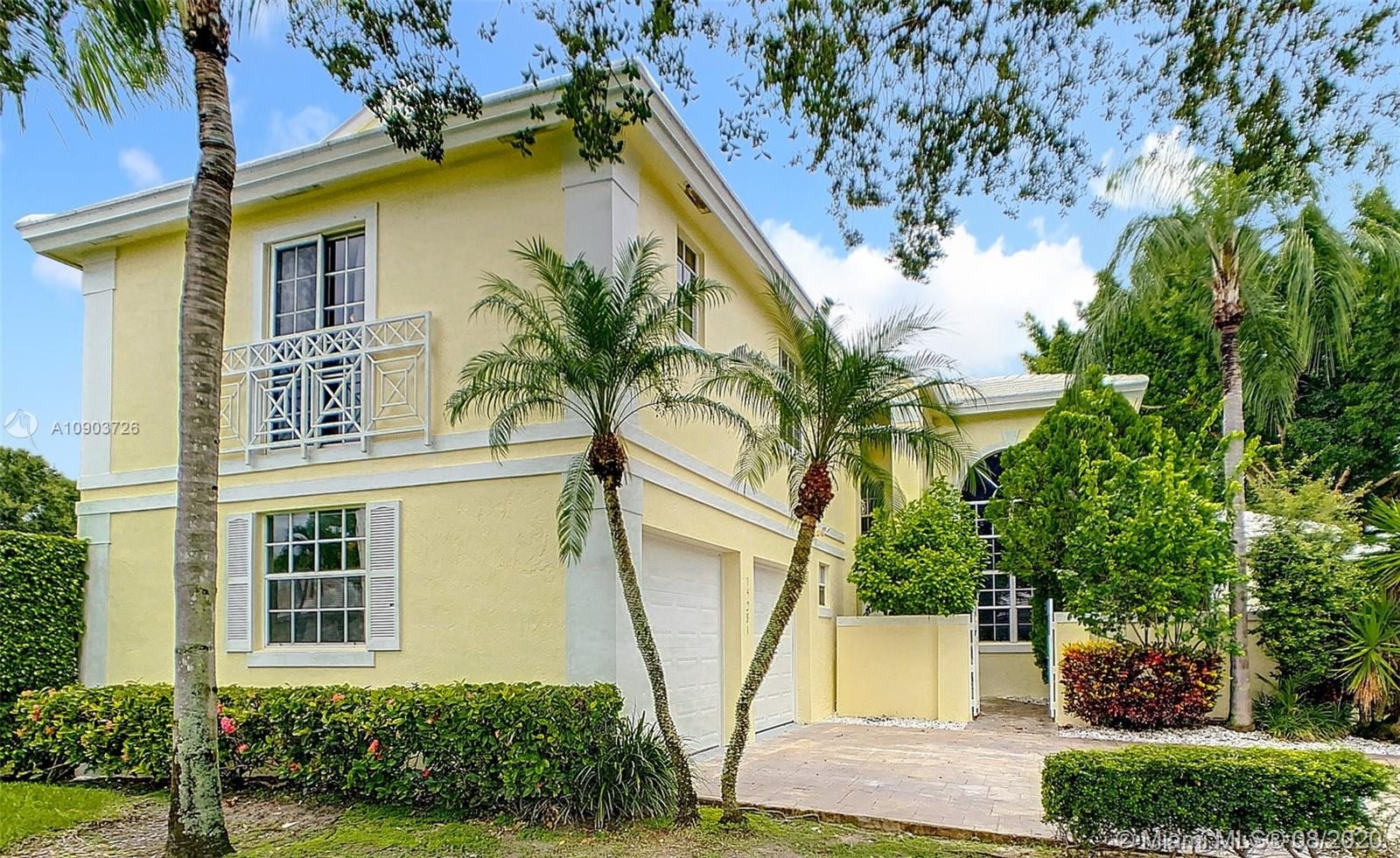 This breathtaking house brings together traditional elegance and contemporary design. It sits on a large corner lot in a cul-de-sac! Come appreciate its spacious layout, which will make you feel home yet offering a minimalist edge. Lots of Natural light! House was upgraded with a new kitchen, bathrooms, flooring, 2 AC units and hurricane garage doors. On 2019 roof was replaced! Outdoor space has 1 additional screened patio surrounded by beautiful landscaping. Enjoy Grand Palms Golf Resort lifestyle:Community offers gated entry, 24 hr security, beautiful palm lined streets, green spaces, children playground, biking and jogging paths. HOA includes cable, alarm, lawn service, exterior painting and pressure cleaning. A schools, shopping and restaurants just outside community. Great location!