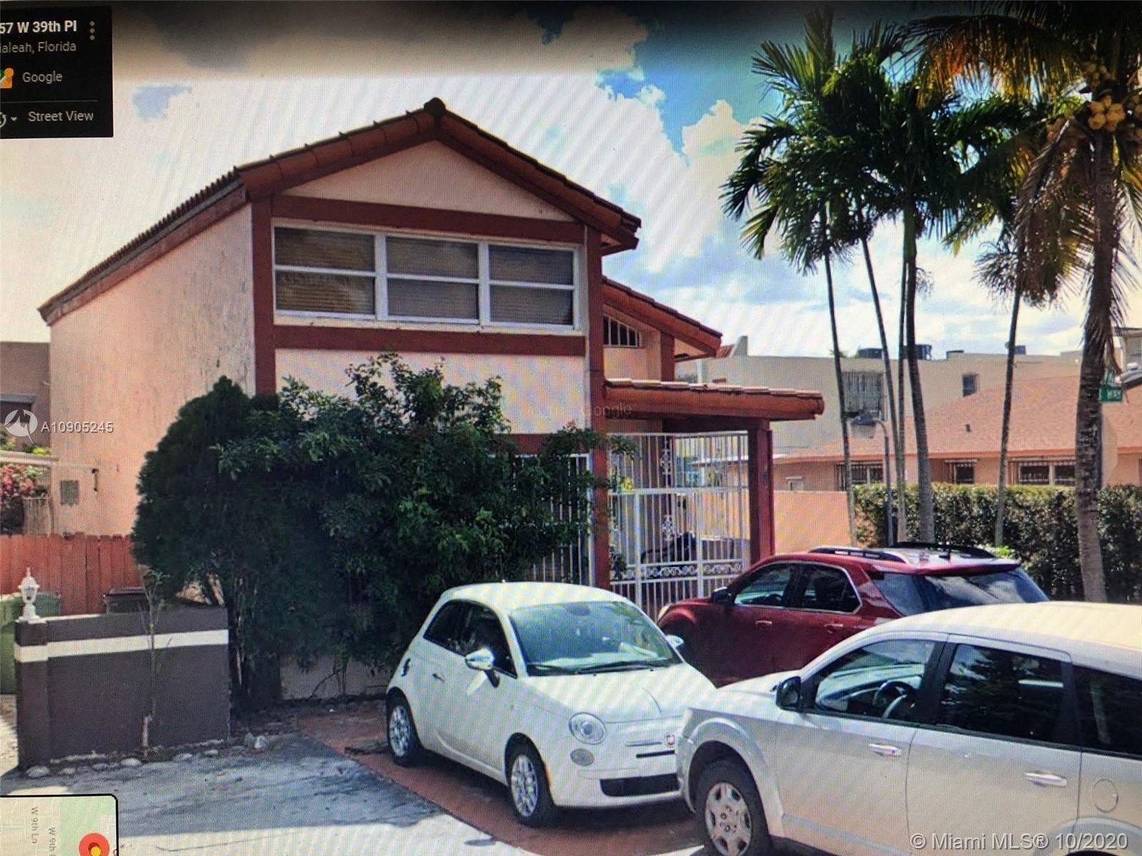 872 W 39th Pl  For Sale A10905245, FL