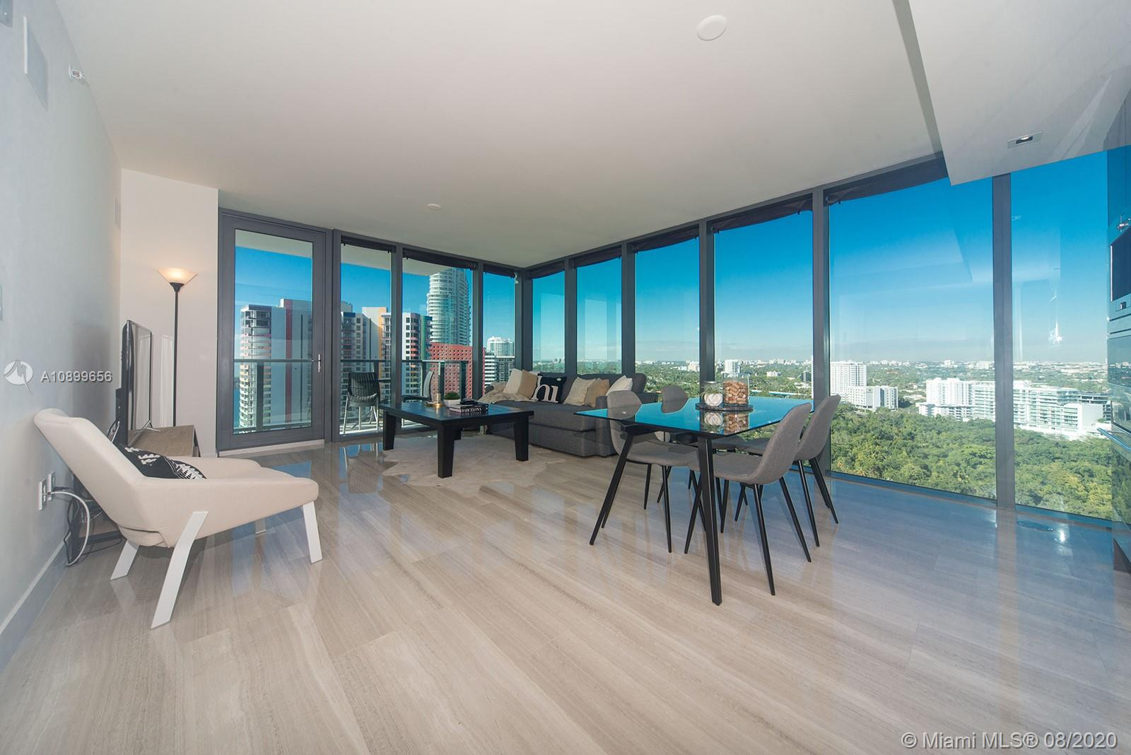 Beautiful & expansive corner unit at the most sought after Echo Brickel.  Conceptually designed by renowned architect Carlos Ott. Featuring foyer, large open living area, integrated audio, video & lighting systems, electric shades in living room & bedroom, open kitchen with Italian custom cabinetry, Subzero/Wolf appliances. Marble floors throughout, floor to ceiling windows, beautiful sunset & sunrise views. BBQ in the balcony. Amenities include a vanishing-edge pool with panoramic views of Biscayne Bay & Key Biscayne State-of-the-art fitness center. This iconic masterpiece is a true 5-star boutique building located in Brickell. Blocks away from luxury shopping and dining at Brickell City Centre, the financial district, easy access to I-95 and Miami Beach, and Key Biscayne.