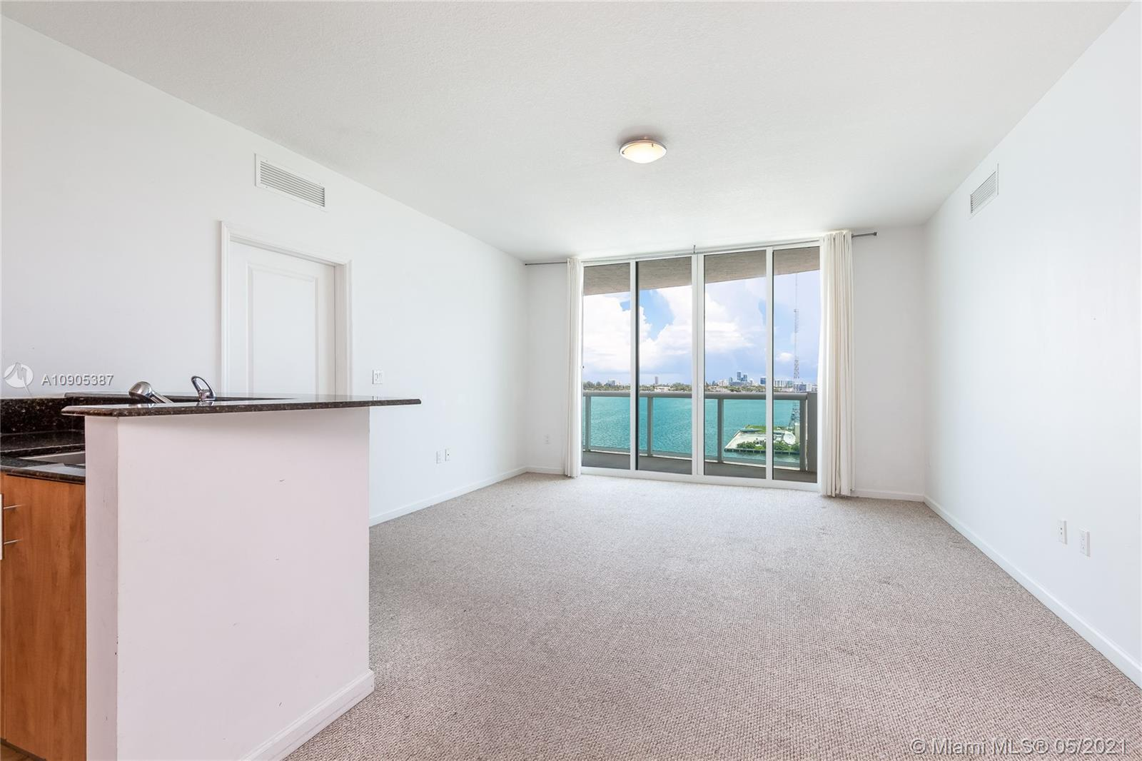 Spacious and bright 2/2 with split floor plan, overlooking Biscayne Bay with total privacy and direct water views from every room. Large balcony. Building offers gorgeous amenities, including 2 pools, fantastic gym, sauna, 24-hr security, FREE valet and guest parking. W/D in unit. MUST SEE!!