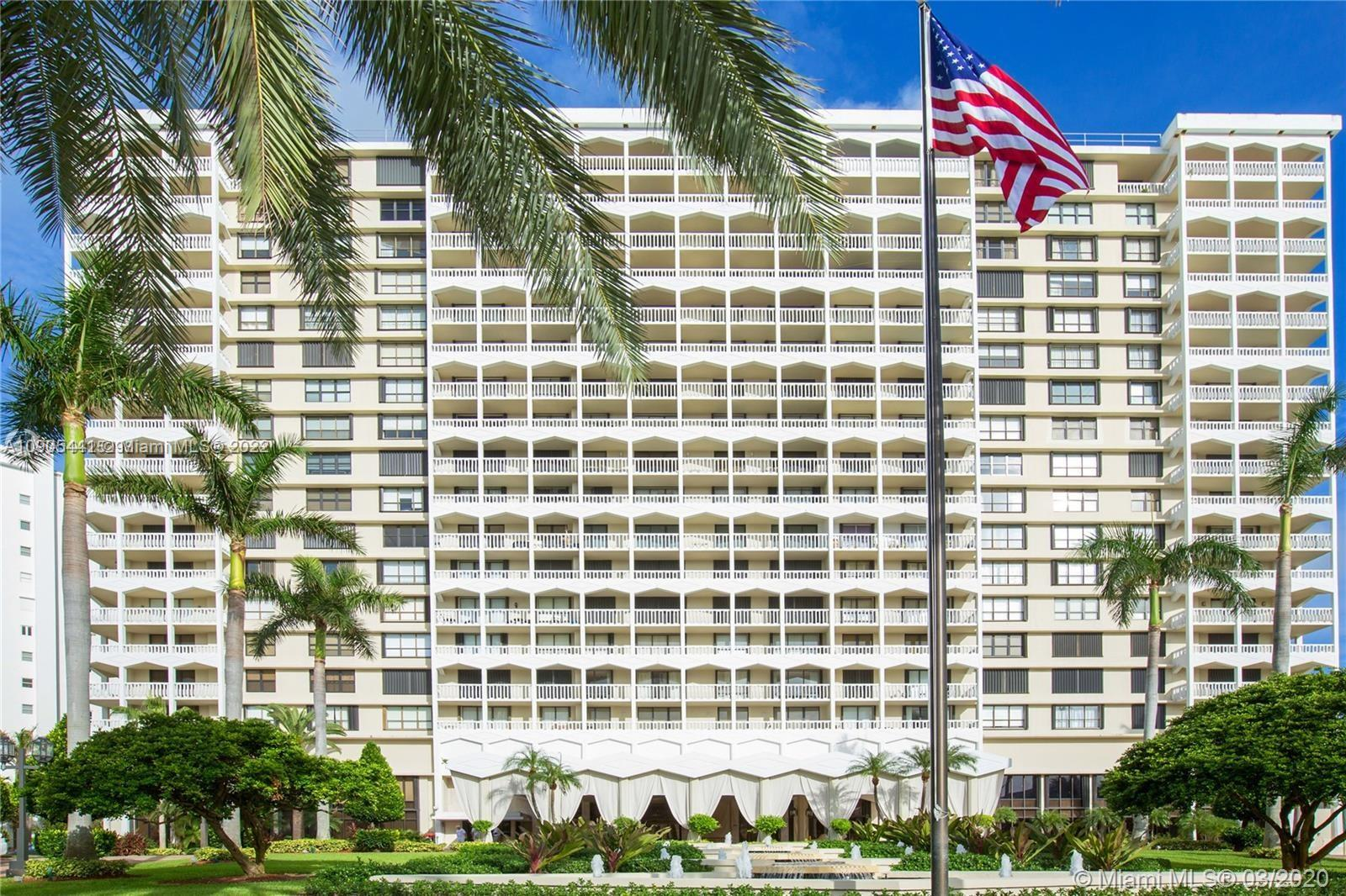 Prestigious condo Balmoral in exclusive Bal Harbour across world renowned Bal Harbour Shops and Harding Ave.  Needs TLC  Owner motivated, beach service, 3 tennis courts, gym,restaurant, hair salon,24 hours concierge, security, valet parking and more.  Maint. Includes basic cable and internet.