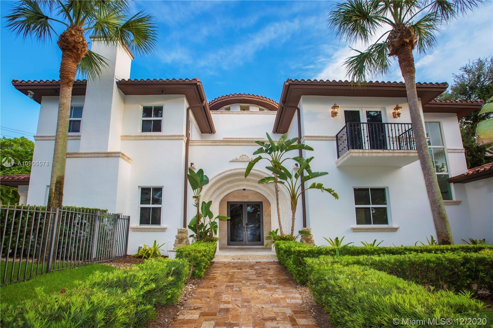 Stately and Imposing Elegance in the  Platinum Triangle  of Coral Gables, just off Old Cutler Road. Walled and gated 6-bedroom, 5.5-baths, 2-car garage, and plenty of space to enjoy. Beautiful and spacious Mediterranean kitchen, elegant dining room, formal living and a very generous family room with access to the covered patio, pool and hot tub, perfect for entertaining. Marble and hardwood floors, high ceilings impact windows and doors, one bedroom downstairs with en-suite bathroom. Upstairs, 4-bedrooms with en-suite bathrooms plus the spacious master suite with walk in closets and a sprawling master bath with his and hers vanities, shower and tub. This beautiful home needs nothing but you to be complete. Reasonably priced and ready for a new family.