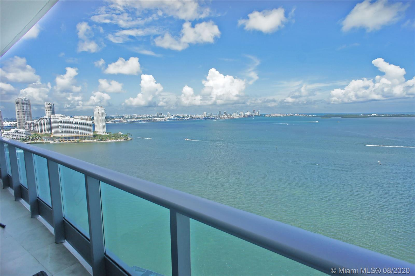 Enjoy endless ocean and bay views! Jade offers you a Luxury, Resort-style living. 2Bed/3 Bath + spacious enclosed den with closet and full bathroom. One of Brickell's most Luxurious residences of advanced technology.  The state-of-the-art kitchen is decorated with Italian designer cabinetry, stainless steel Miele appliances, a wine cooler, cappuccino maker. Marble baths, state-of-the-art security system, Infinity edge pool, Sauna, steam room, fitness center, European-style resort spa, racquetball, 24 Hr. concierge services. Seventh-floor Resort Deck of 31,200 bay front Sq ft.  Security-controlled elevator access.  Elegantly appointed entrance and lobby, Wireless wi-fi. Fully equipped business center. Extra storage.  Centrally located, walking distance to shops, dining, and entertainment.