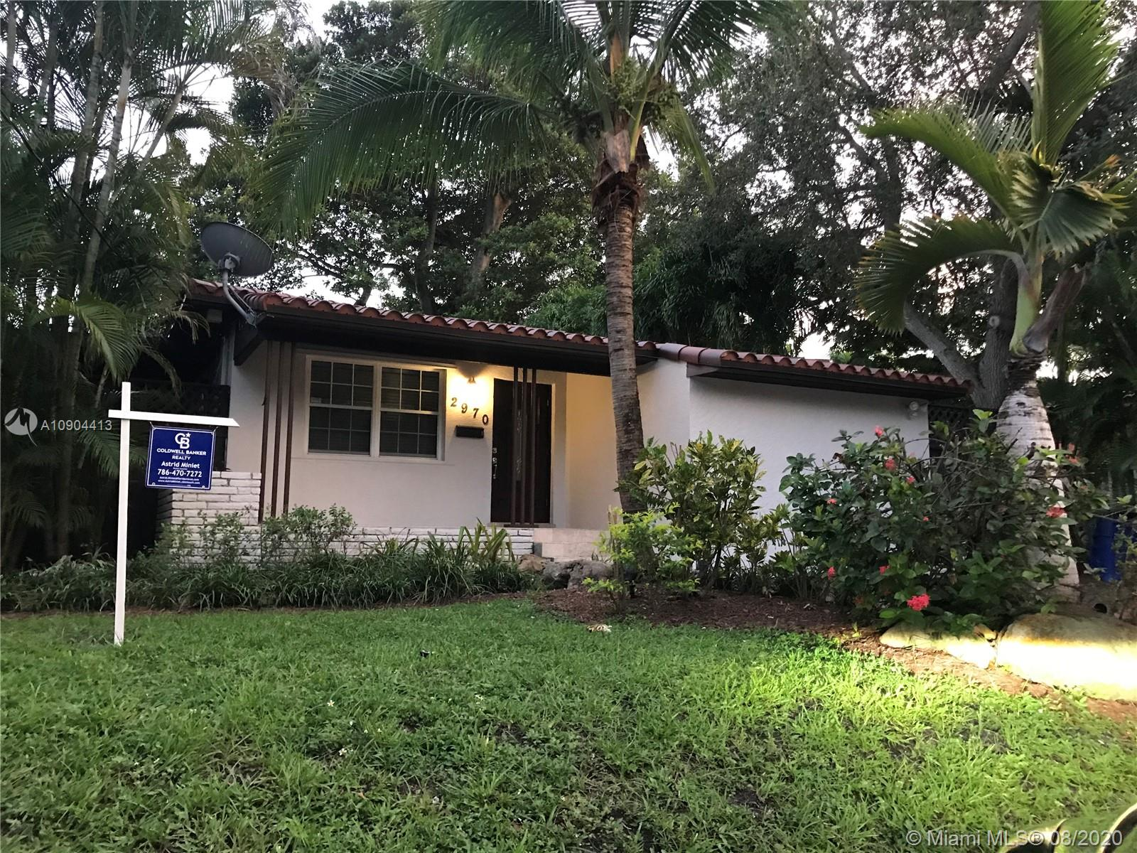 Best kept secret in Coconut Grove. This updated one-story single family home is under $700k and priced to sell.  Centrally located and within walking distance to a great dog park, Cocowalk, the bay, and many other hot spots in Coconut Grove. This single-family house has a fabulous deck for entertainment and BBQ.  This charming house was just painted inside and outside.  Call listing agent to schedule a showing.