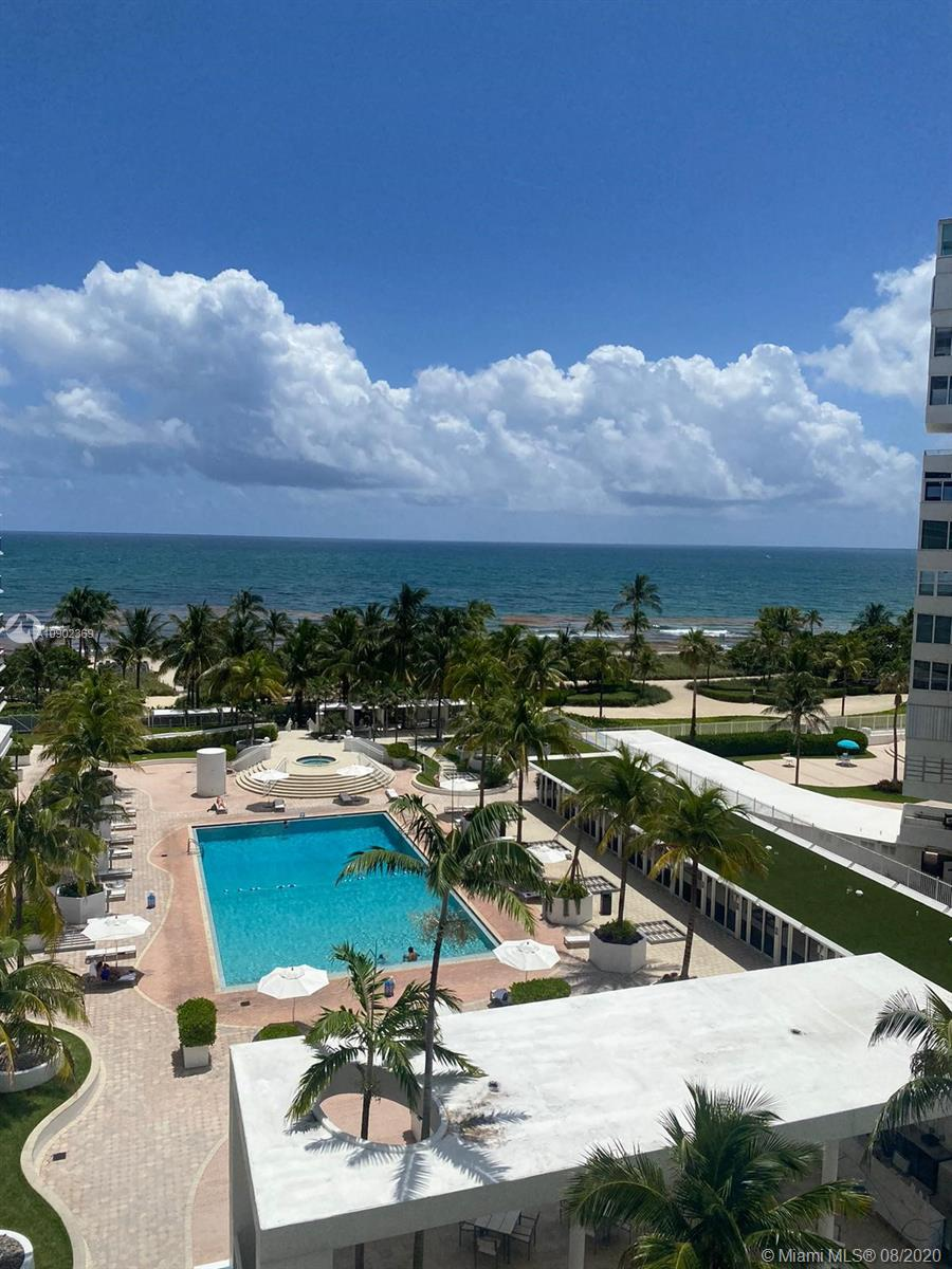 OCEANFRONT VIEW. Breathtaking views of the Ocean and Pool from this 2 bedroom 2 baths unit. Kitchen has granite countertops, Porcelain floors in all unit, balcony, washer and dryer inside the unit. Open and direct views to Ocean, upgrade baths. FURNISHED unit. Building has been beautifully renovated all common areas/gym & spa/theater room/club room/concierge/security/valet 24hrs/mini market, all within walking distance to renowned Bal Harbour Shops/galleries/cafes/restaurants and houses of Worship; minutes to Sunny Isles and Aventura. You will love live in this Building in the heart of Bal Harbour. Best schools in zone