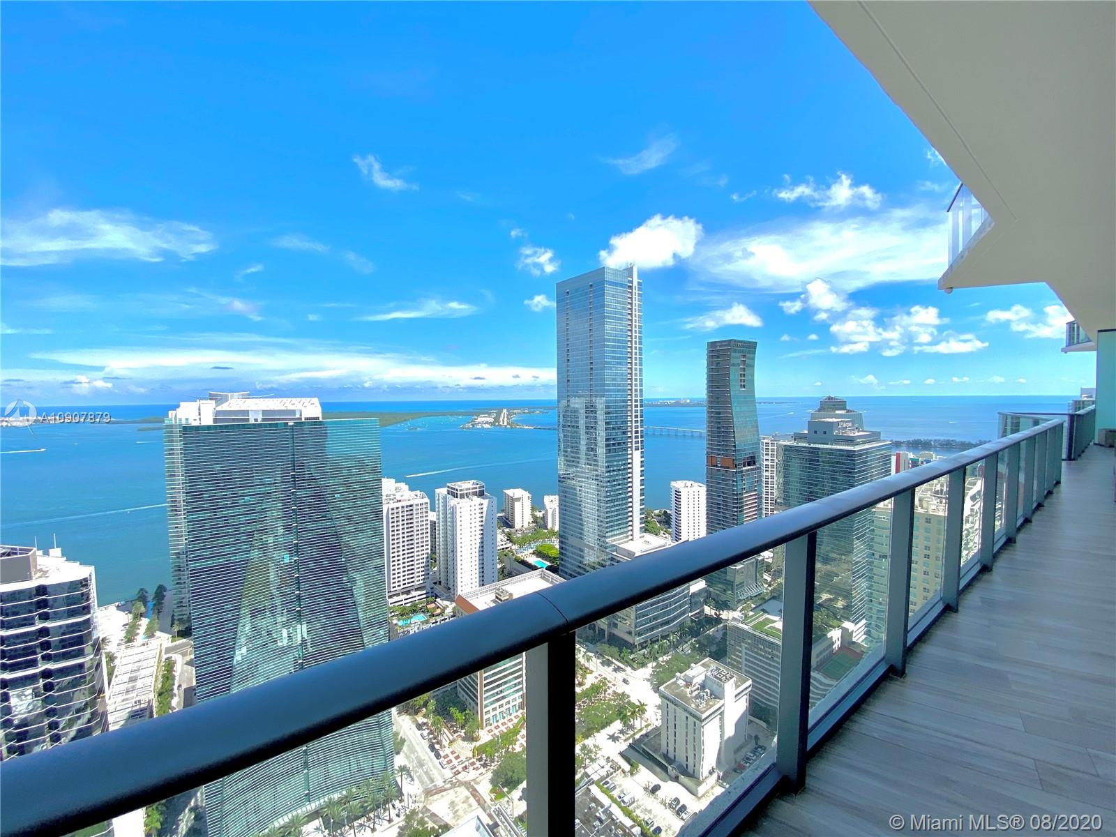 LUXURY IN THE SKY! Spectacular designer appointed 3 Bed + Den Penthouse in luxurious SLS Brickell with over $350K in upgrades and designer furniture from Roche Bobois, Missoni and more. Best Line at SLS, offered fully furnished. PH completely upgraded w/luxury end-finishes. Top-of-the-line Bosch and Subzero appliances, 10-foot ceiling, sleek wood like porcelain floors, Italian doors and Closets. Floor-to-ceiling glass windows open to large balcony w/panoramic views of ocean & Miami skyline. Electric shades throughout. Master Bath w/tub & glass enclosed shower. Amenities include fitness center, rooftop pool, full-service spa, pool terrace w/200 foot-long pool, cabanas, full-service concierge, Kids room, party room, and top restaurants by Michael Schwartz and Jose Andres.