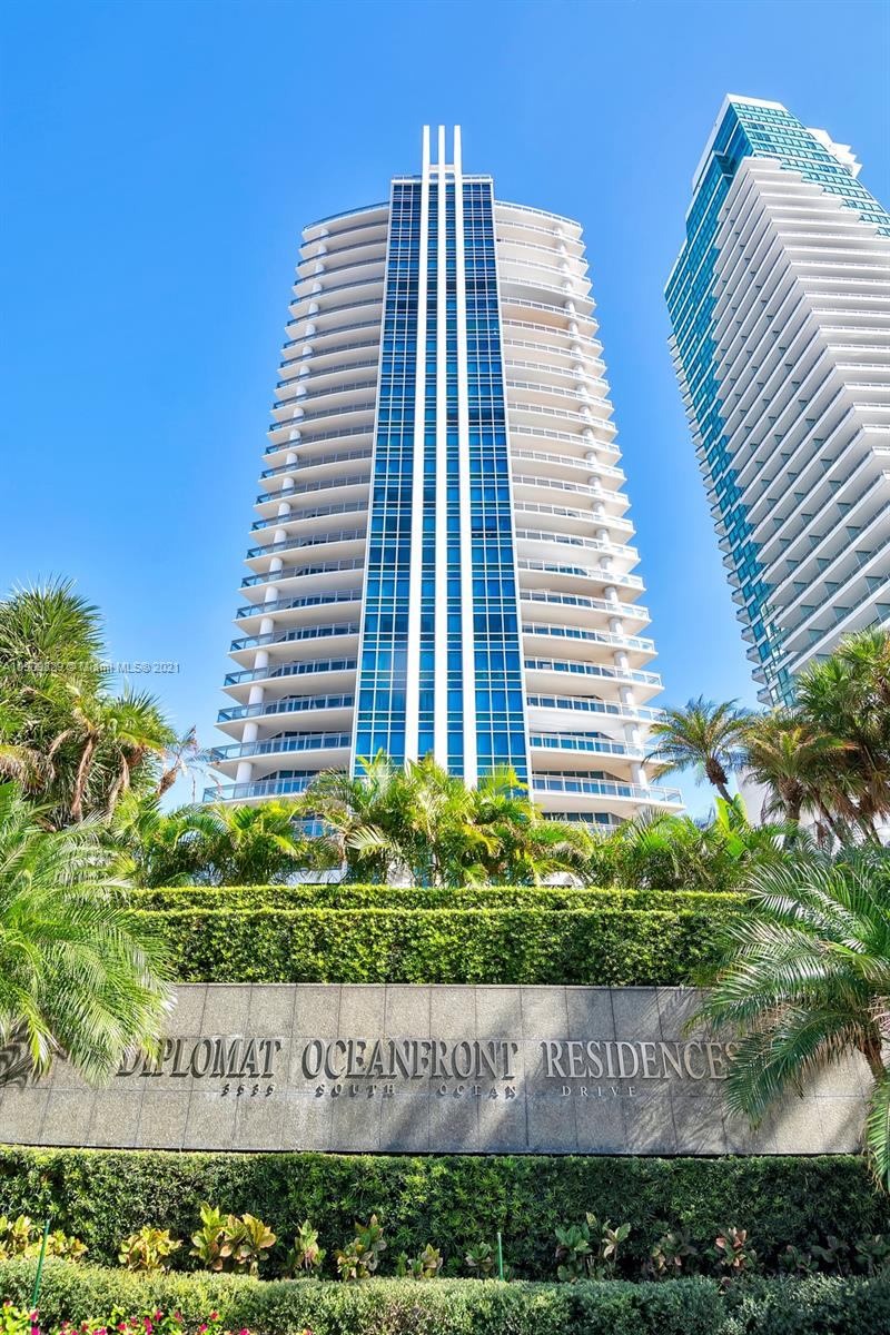 BEST VALUE IN THIS EXCLUSIVE & PRIVATE BOUTIQUE BUILDING ON HOLLYWOOD BEACH! THIS BEAUTIFUL DIRECT OCEANFRONT RESIDENCE HAS PRIVATE ELEVATOR & FOYER. THREE LARGE BEDROOMS, 3.5 BATHS & LARGE BALCONIES FROM EVERY ROOM W/ INCREDIBLE OCEANFRONT & INTRACOASTAL VIEWS. MARBLE FLOORING, FINISHED CLOSETS, SEPARATE LAUNDRY ROOM W/FULL SIZE W/D. A BEAUTFULLY APPOINTED KITCHEN W/GRANITE COUNTERS & TOP OF THE LINE SS APPLIANCES. A SPLIT FLOOR PLAN OFFERS COMPLETE PRIVACY. OTHER AMENITIES INCLUDE POOL & BEACH SERVICE, BILLIARD ROOM, THEATER, FITNESS CENTER, MEN'S & WOMEN'S SAUNA & DIRECT ACCESS TO THE ADJACENT HILTON DIPLOMAT HOTEL & RESORT W/ROOM SERVICE TO 6 RESTAURANTS,AVAILABLE HOUSEKEEPING SERVICES & SO MUCH MORE! ENJOY THE FRESH OCEAN BREEZES & BEAUTIFUL SUNSETS IN THIS INCREDIBLE HOME IN THE SKY!