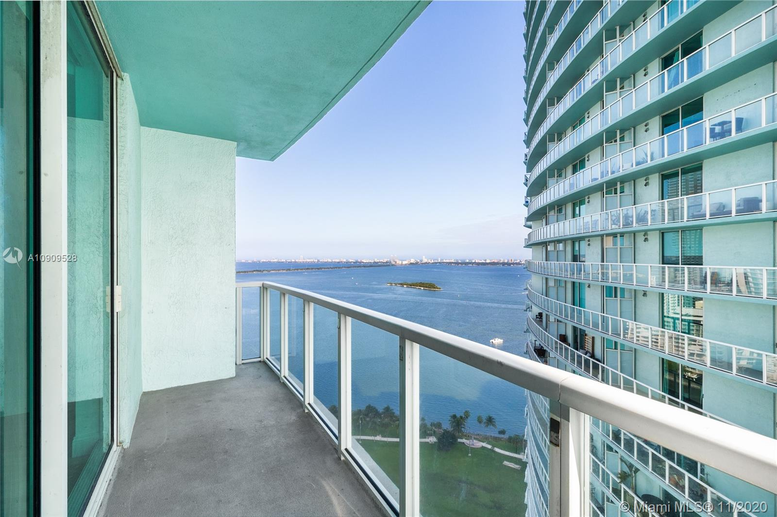Stunning & spacious one bedroom apartment with beautiful views of Biscayne Bay and downtown. Immaculate gray-toned European floors throughout the living and bedroom of this light filled apartment. Quantum on the Bay offers hotel style amenities as well as basic cable and internet. State of the art gym, movie theater, two pools, business center, resident lounge rooms and so much more! Enjoy luxury living at Quantum and centrally located within the hot spots in Miami; Downtown, Edgewater, Midtown, Wynwood, Design District and South Beach!