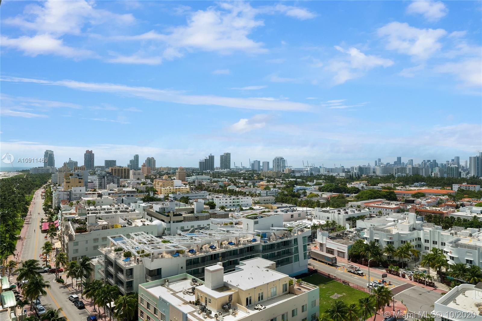 Escape to this top floor renovated and redesigned upper penthouse in the heart of South Beach! UPH-10 offers unparalleled views of the Bay, Ocean Drive and Miami's iconic skyline. Enjoy this residences countless upgrades including top of the line appliances, wine fridge, spacious master suite with walk-in closet, floor to ceiling windows, and two fully renovated bathrooms featuring marble floors, rain head shower and Toto Neorest toilet. This stylish residence is located in the epicenter of all dining, entertainment & shopping spots. 1500 Ocean Drive is full service luxury oceanfront building with 24 hr doorman/security, on-site management, full complimentary beach service with chaise lounge chairs and cabanas, 1 assigned parking space with valet services, and extra storage & bike area.