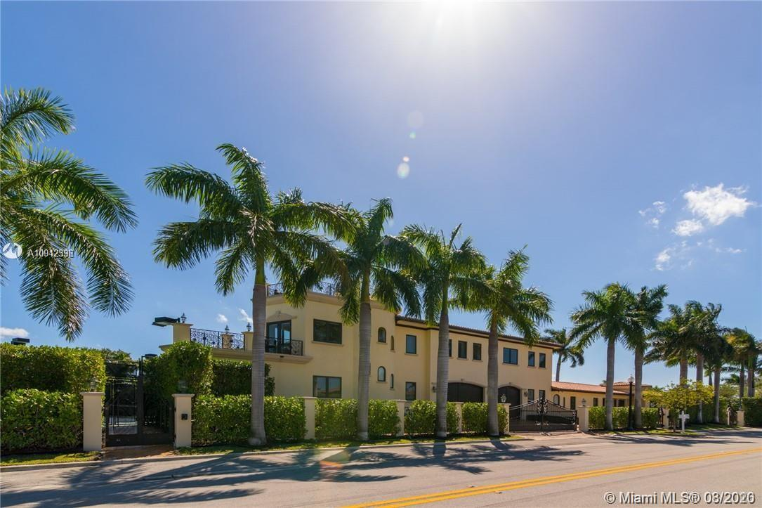 Best of Bay Harbor Islands. This palatial estate is situated on a double lot, boasting exquisite grounds, tennis court, full sauna/gym, and stunning infinity edge pool. 6/6.5 home features a spacious living areas, Viking Professional kitchen, onyx and marble floors throughout, and over 500k worth of Crestron sound/security systems. Massive master suite and large bedrooms.