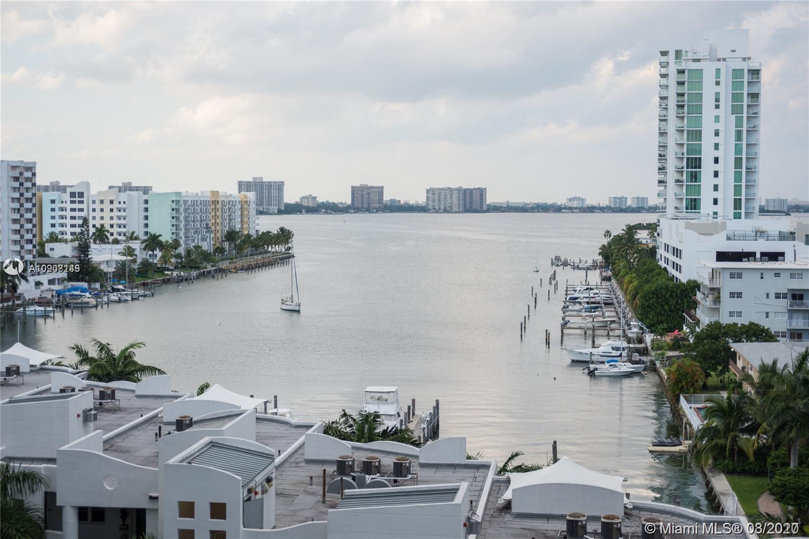 Breathtaking water views from this luxurious condo in the Heart of North Bay Village. 2 Bedrooms and 2 full baths,nice open kitchen with stainless steel appliances, large balcony, washer and dryer in unit, bamboo floors complete apt and marble on balcony. Full amenities in the building, 24 hours security, valet, pet friendly, private marinas, pool and exercise room.