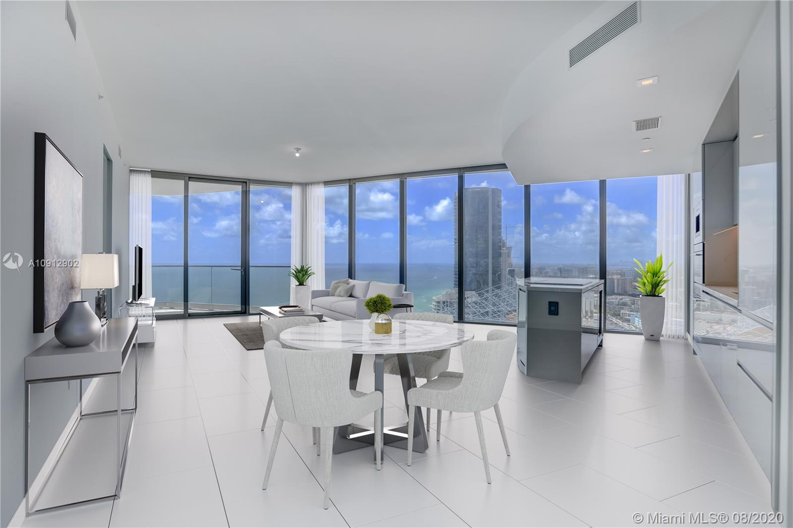 Brand New Residences By Armani Oceanfront unit clearing south neighboring building! 2 bedroom, 2.5 bathroom + den with a total of 2,331 SQ FT. Residence features floor to ceiling windows, volume ceilings, split floor plan, 2 large balconies, summer kitchen. Unobstructed views of the Atlantic Ocean and Intracoastal. Unparalleled amenities and 5 star service includes Oceanfront Pool + Bar, Restaurant, Spa & Fitness Center, Grand Lobby and Bar Lounge, Cigar and Wine Room, Children's play area, Concierge, Security and Valet and more.