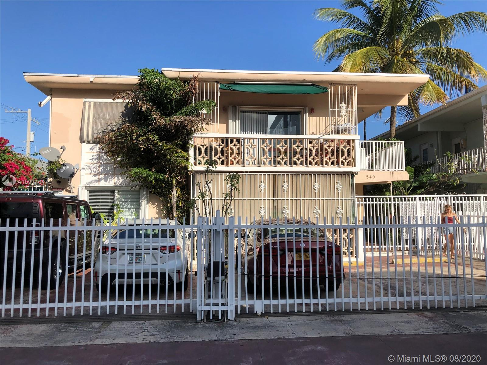 549  Meridian Ave #8 For Sale A10914647, FL