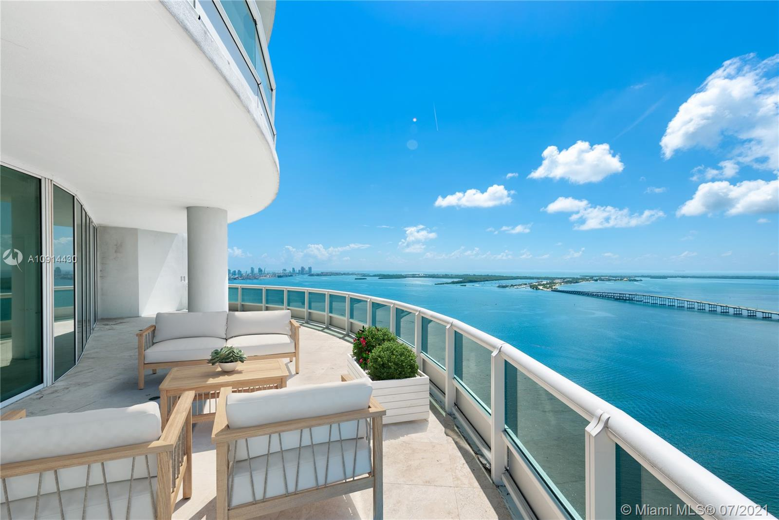 Situated atop the prestigious, full-service, white-glove Santa Maria, this spectacular 6,300 SqFt light-filled penthouse residence is truly a palace in the sky! The epitome of elegant bay front living on the desirable, quiet, tree-lined south side of Brickell. #PH4302 boasts 5 beds, 6.5 baths, private elevator / entry foyer & exceptional 270 degree city / bay views from an extraordinary 3,250 SqFt of wraparound terraces. 2 assigned covered parking + unlimited valet parking & storage. Fantastic apartment for entertaining w/ true flow-through floor plan. Total SQFT of apt including living & terraces is 9,550 SF. Amenities include Tennis, Clubhouse, Gym, Play Area, Swimming Pool, Gym/spa, 24hr Doorman Security. Located In The Heart Of Brickell, Close To Dining & Nightlife & Key Biscayne..