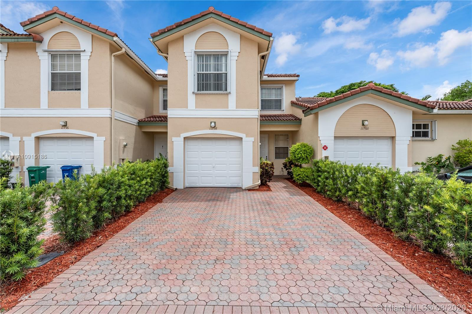 Amazing upgraded & very well maintained townhouse in the Coral Springs gated community of Wyndham Lakes East. Located right across from the community pool & guest parking. This home features an upgraded kitchen with granite counter tops, Tile floors throughout first & second level. Kitchen/Family & Living/Dining room combinations. Second floor features a spacious master bedroom with a walk-in closet & master bath with granite counter top, dual sinks & a tiled stand-up shower. Guest bedrooms with a full guest bathroom with dual sinks & shower/tub combination. Laundry/Utility room. This home has a 1 car garage & a nice patio/backyard area with no neighbors behind. This home will not last!!