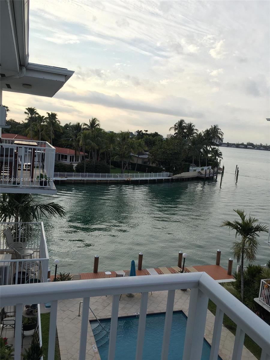 BREATH TAKING VIEW FROM ITS BALCONY, AND FROM THE POOL. DIRECT ACCESS TO INTRACOASTAL WATER, WALKING DISTANCE FROM THE BEACH, BAL HARBOUR SHOPS, SURFSIDE RESTAURANTS. LOCATED CLOSE TO US1, I-95, MIAMI BEACH, COLLINS AVE, BAL-HARBOUR, SUNNY ISLES. REMODELED APT., TILES THROUGHOUT, SAFEST NEIGHBORHOOD, QUIET AREA, BUT WALKING DISTANCE FROM LOTS OF ACTIVITY. HIGH SCHOOL AND MIDDLE SCHOOL CLOSE BY.
