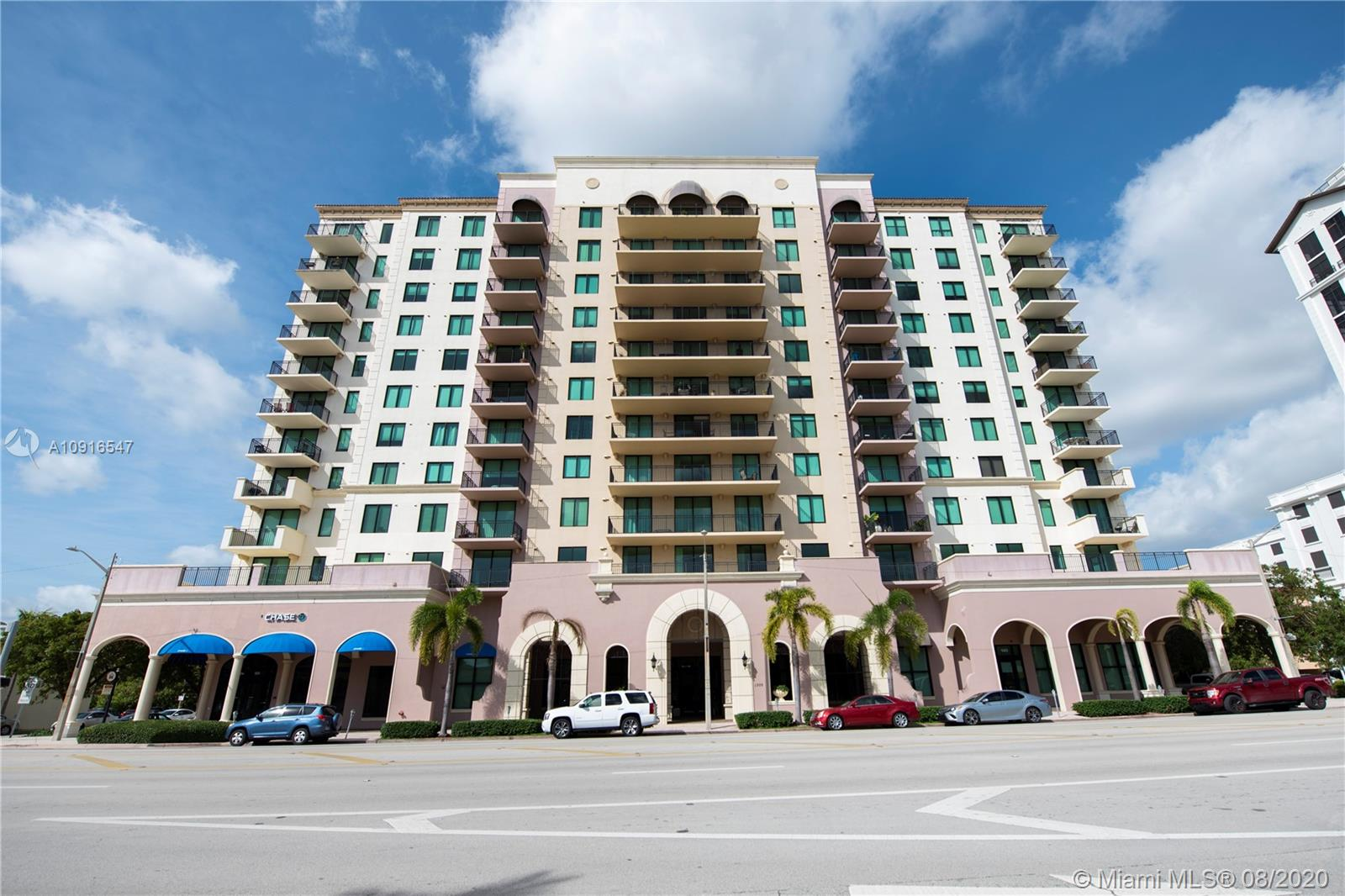 SPACIOUS CONDO IN CORAL GABLES, ONLY BLOCKS OFF MIRACLE MILE AND RIGHT ON PONCE DE LEON. BEAUTIFUL VIEW TO DOWNTOWN BRICKELL.MINUTES FROM MERRICK PARK AND WALK TO SHOPS, RESTAURANTS, AND MORE. CLOSE TO AIRPORT. INCLUDES WOOD CABINETS IN KITCHEN AND BATHROOMS, GRANI TE COUNTER TOPS IN KITCHEN, MARBLE COUNTER TOPS IN BATHROOMS, ALL STAINLESS-STEEL KITCHEN APPLIANCES. IMPACT WINDOWS. 2 PARKING SPACES (ASSIGNED). EXCELLENT LOCATION.
