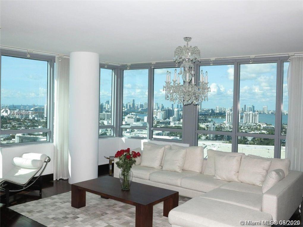 Full four bedroom (2 master) four bathroom, this combination of the 01/02 line at the Setai residences tower offers the most amazing views of south beach, and the entire city. Beautifully furnished the Living room and all but one bedrooms are equipped with flat screen tvs .Available for rental for 35,000usd/month or for daily rates please call agent. Build inns and high end custom furnishings are in the progress , designed exclusively for this Unit by KMP FURNITURE -STUDIO