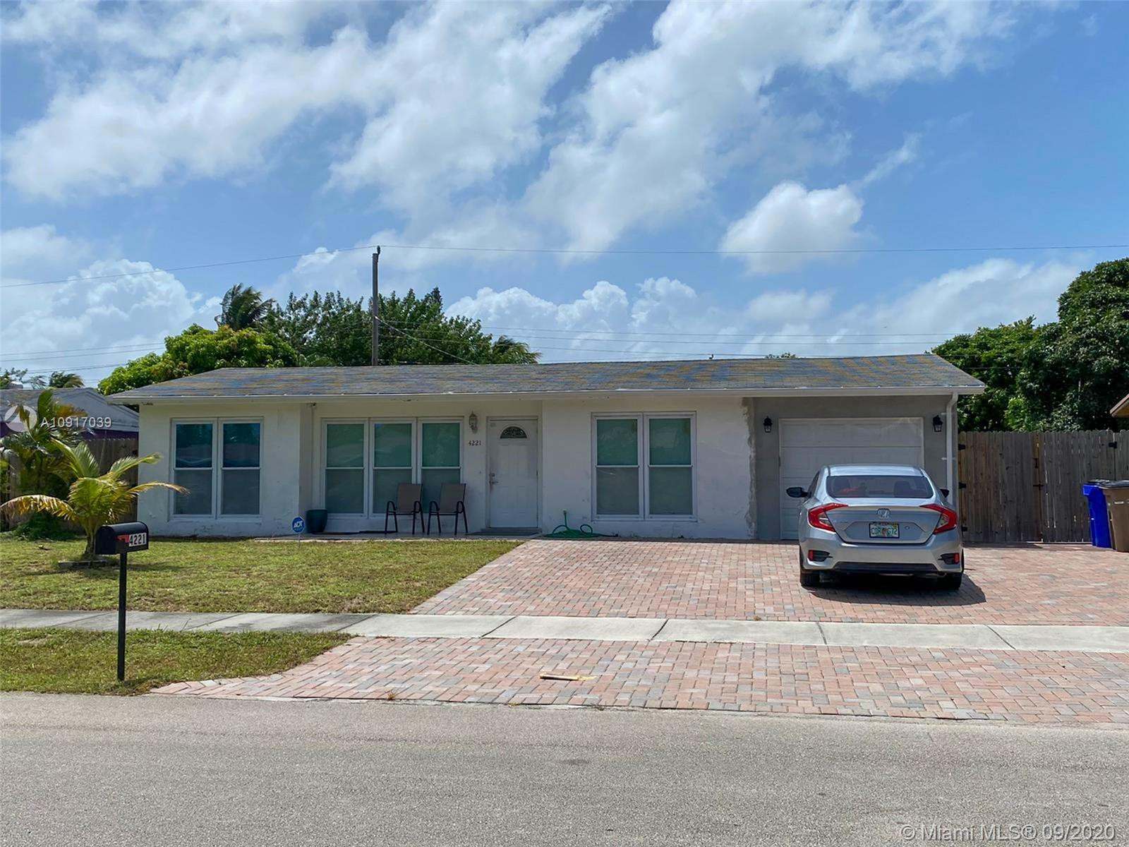 Beautiful home in the heart of Deerfield Beach. Close to the beach, I95, on a quiet street. Hurricane impact windows and doors, fenced, very large backyard with room for a pool, large driveway, garage. Move in ready!!
