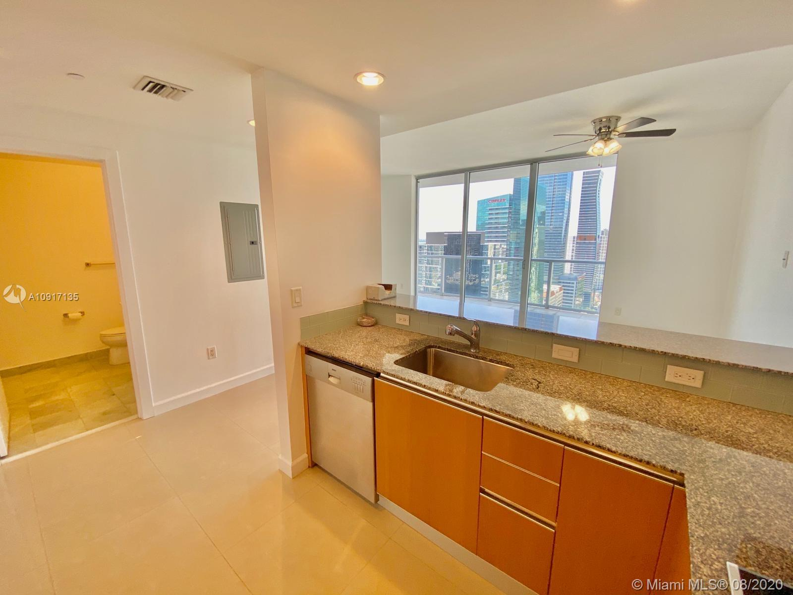 ONLY 2 MONTHS TO MOVE IN!!!! Most desired studio line in the building!!! Top of the line appliances , direct water view. Washer and dryer in the unit. 1 assigned parking space. Water and cable included on the rent