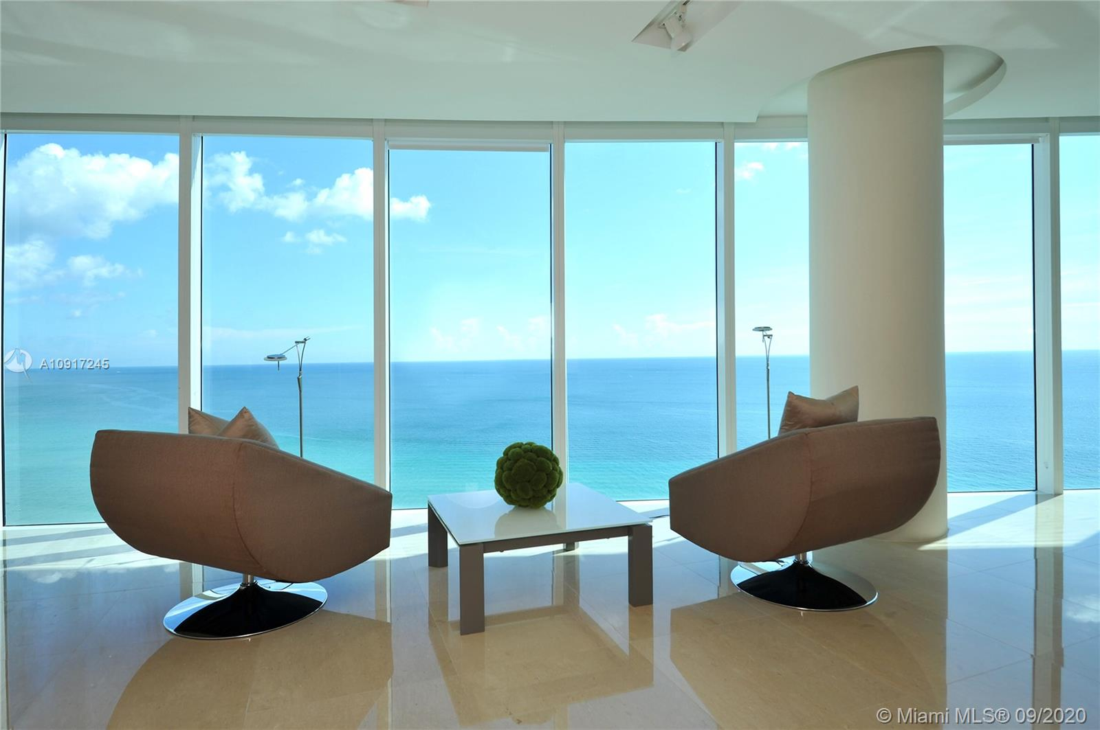 BRING YOUR TOOTHBRUSH. Impeccably designed & finished by world renowned designer, Steven G, this stunning residence has been lightly used by the original owners. Enter through private foyer to EXPANSIVE ocean views w/ FLOOR TO CEILING glass throughout- truly feels like you are one w/ the ocean. Open floor plan sets up perfect for entertaining- no detail has been overlooked. 3 generous bedrooms, 3.5 baths, gourmet kitchen, custom modern built-ins & lighting, fine window treatments & more. Priced aggressively, fully DESIGNER FURNISHED. Trump Hollywood features Award-Winning 5 Star Amenities including: Breakfast Room, Wine & Cigar Lounges, Amazing Fitness Center, Spa, Tennis, Massage Rooms, Party Room, Theater, Personal Concierge, Pool & Beach Service. Call for a private viewing.