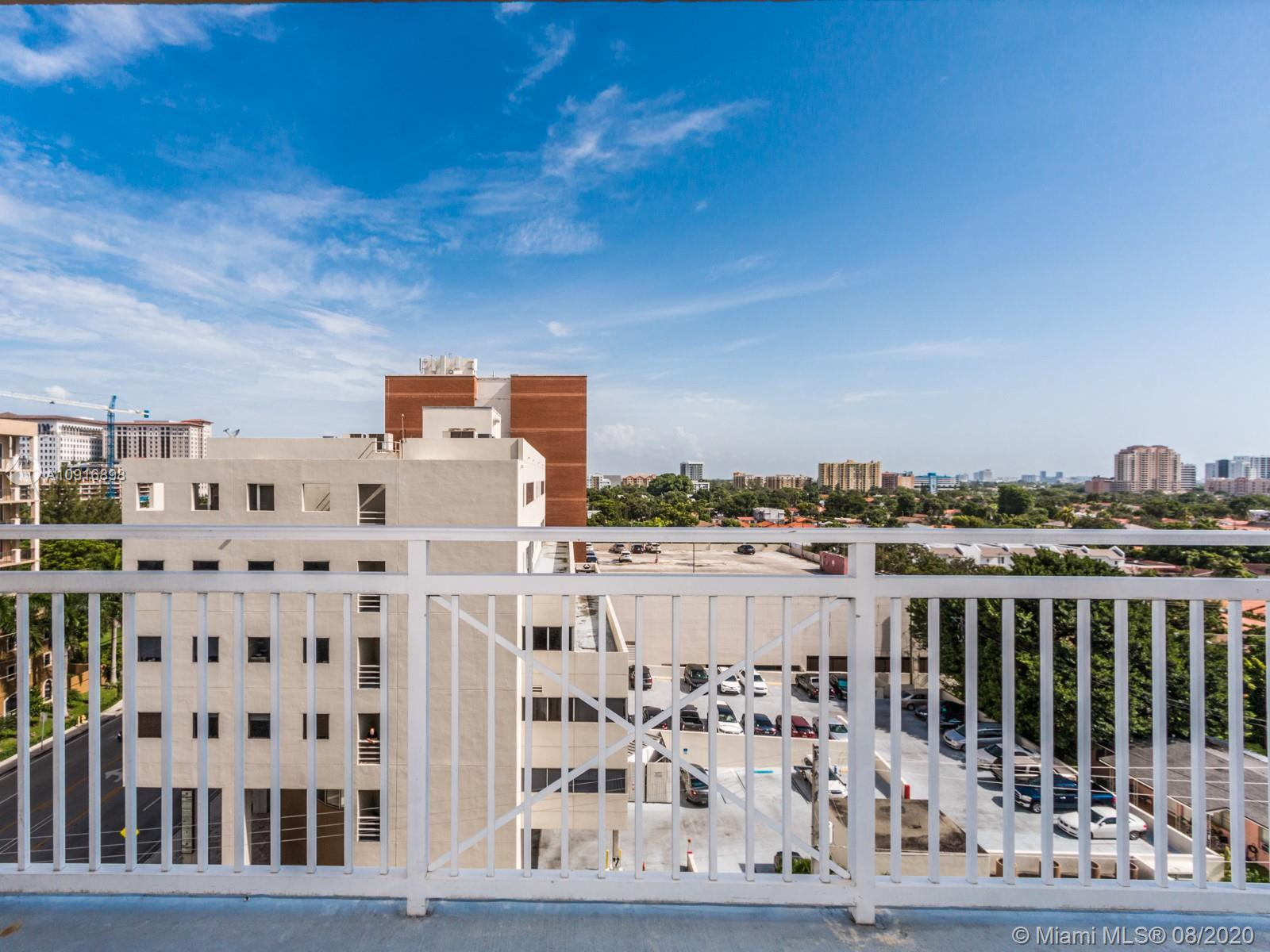 Great Investment and currently rented until July 2021. Centrally located, just minutes from Coral Gables, Coconut Grove, restaurants, shopping areas, and public transportation. Large corner unit, two bedrooms and two baths. This building has a great gym and pool area, as well as a stylish lobby and excellent security, with 1 assigned parking space.