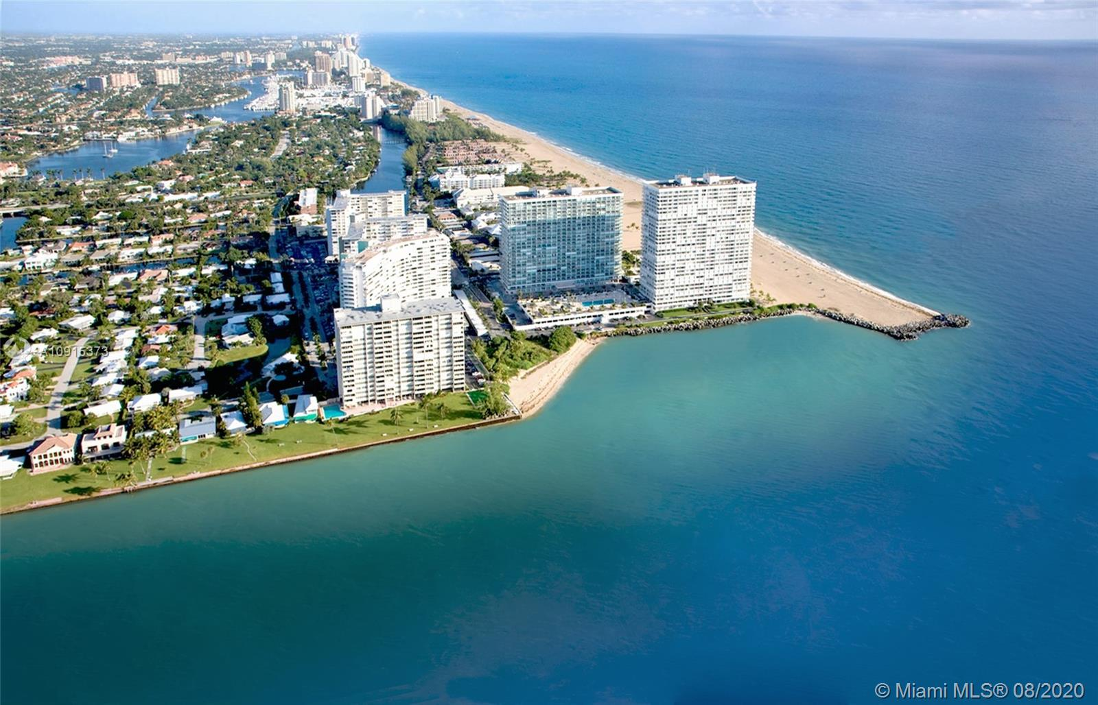 Enjoy spectacular skyline and partial ocean views from this highly desirable sub-penthouse model with over 1,900 square feet under air and full impact glass.  Priced to sell and ready for your updates. **3rd bedroom currently open to living room.**  Newly renovated luxury building with five star amenities is right on the sand and offers one of the best locations in all of Fort Lauderdale. Enjoy the beach, fitness center, putting green, BBQ, fishing and a heated inlet view pool. Highly desirable Harbor Beach area location is just minutes to Las Olas, downtown, airport and all major roads and close proximity to restaurants, beach clubs and more.