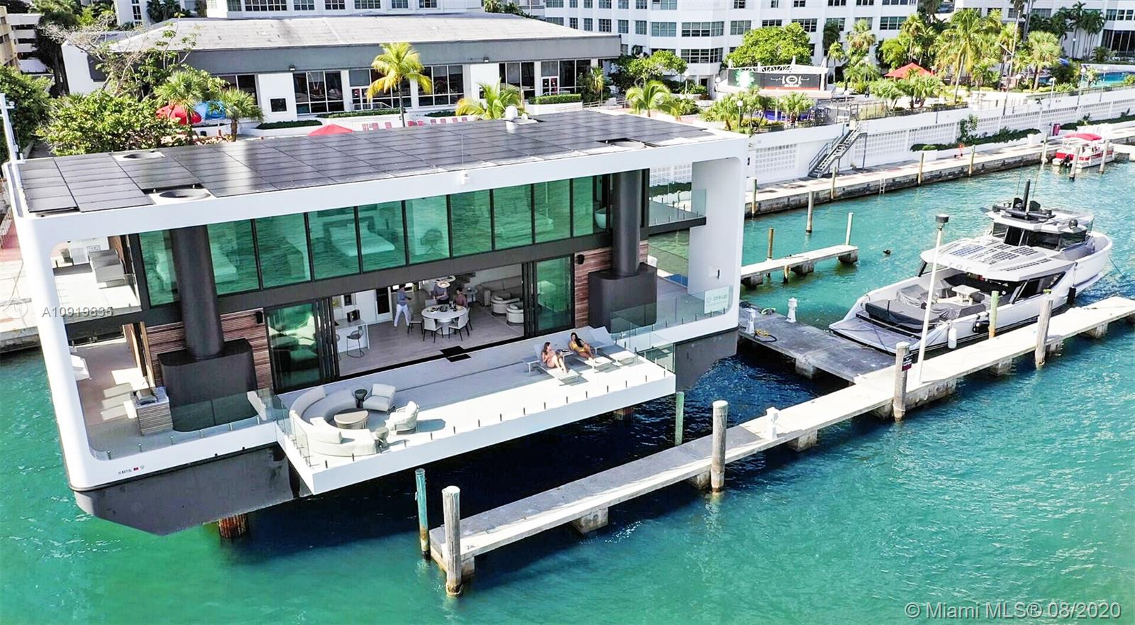 ARKUP - GROUP OWNERSHIP OPPORTUNITY! Incredible chance to own a piece of The Arkup at a fraction of it's cost. Call listing agent for details. Immaculate mansion on the water in Brickell! Located at the lavish Vice City Marina just steps from Miami's 5-star dining & nightlife, this is the only property of its kind. A blend of a modern Miami mansion & a mega-yacht, the Arkup allows you to live on the water and bask in everything Miami has to offer without paying property taxes, condo dues, an electric bill or a water bill. Sporting 4,350 square ft of perfectly curated indoor & outdoor space & built on retractable legs that elevate the mansion out of the water or cruise like a yacht to any of Miami's hot spots, the Arkup is absolutely unmatched for wow-factor, luxury, privacy & convenience.