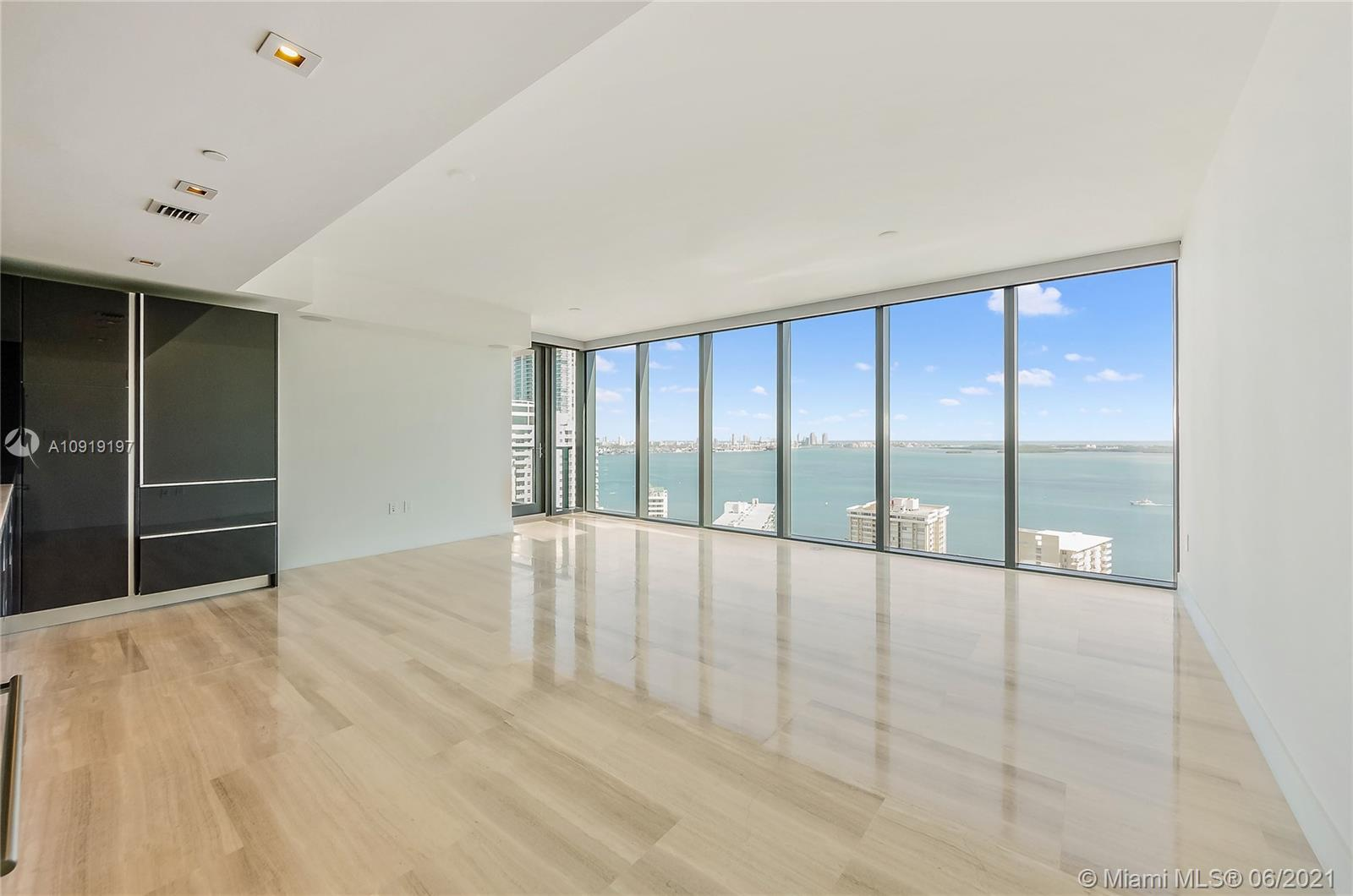 BEST PANORAMIC VIEWS TO BISCAYNE BAY AND THE ATLANTIC OCEAN! 2/2.5 corner unit in the exclusive boutique residential high-rise Echo Brickell developed by world-renowned architect Carlos Ott & interiors by YOO Studio. Marble floors throughout living areas (fully-finished). Floor to ceiling electric shades on all windows. Apple home technology, wall-mounted Ipad that controls audio, lighting, wall treatments & valet parking. Kitchen has Italian glass cabinetry, marble countertops & top-of-the-line Wolf & Bosch Sub Zero appliances, built-in coffee machine. Balcony w/summer kitchen. State-of-the-art gym, infinity edge pool & 2 hot tub Jacuzzi's. Spa deck w/panoramic bay & city views. Full concierge, valet, pet-friendly building w/pet walker, limo service available up to 5 miles away