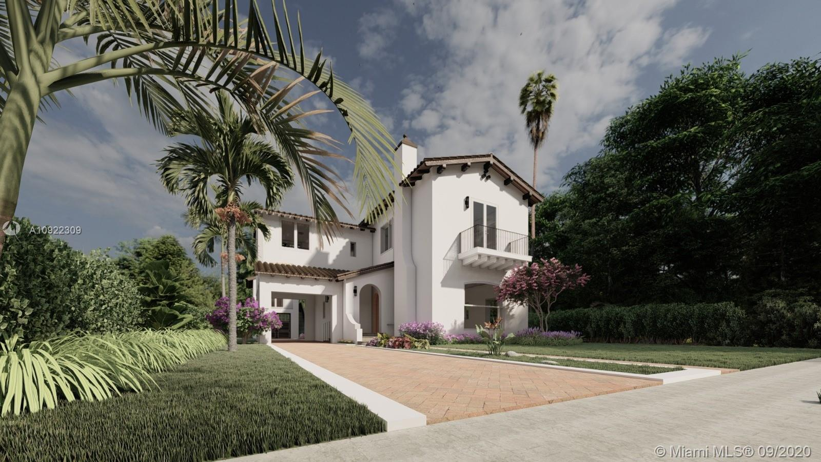 UNDER CONSTRUCTION. This majestic Tuscan-inspired house  it's located at Valencia Avenue. A short shot away from the Biltmore Hotel golf and spa. Two story house, 4 bedroom, 3.5 baths and Garage, impact glass window. Custom Kitchen European Design with Sub-zero and Wolf Appliances. Guess House beside pool with garage that can be converted into a game room.  Fabulous space with covered terrace for lounging/dining, summer kitchen overlooking the enchanting pool. Elegance finishing, beautiful baths design!
