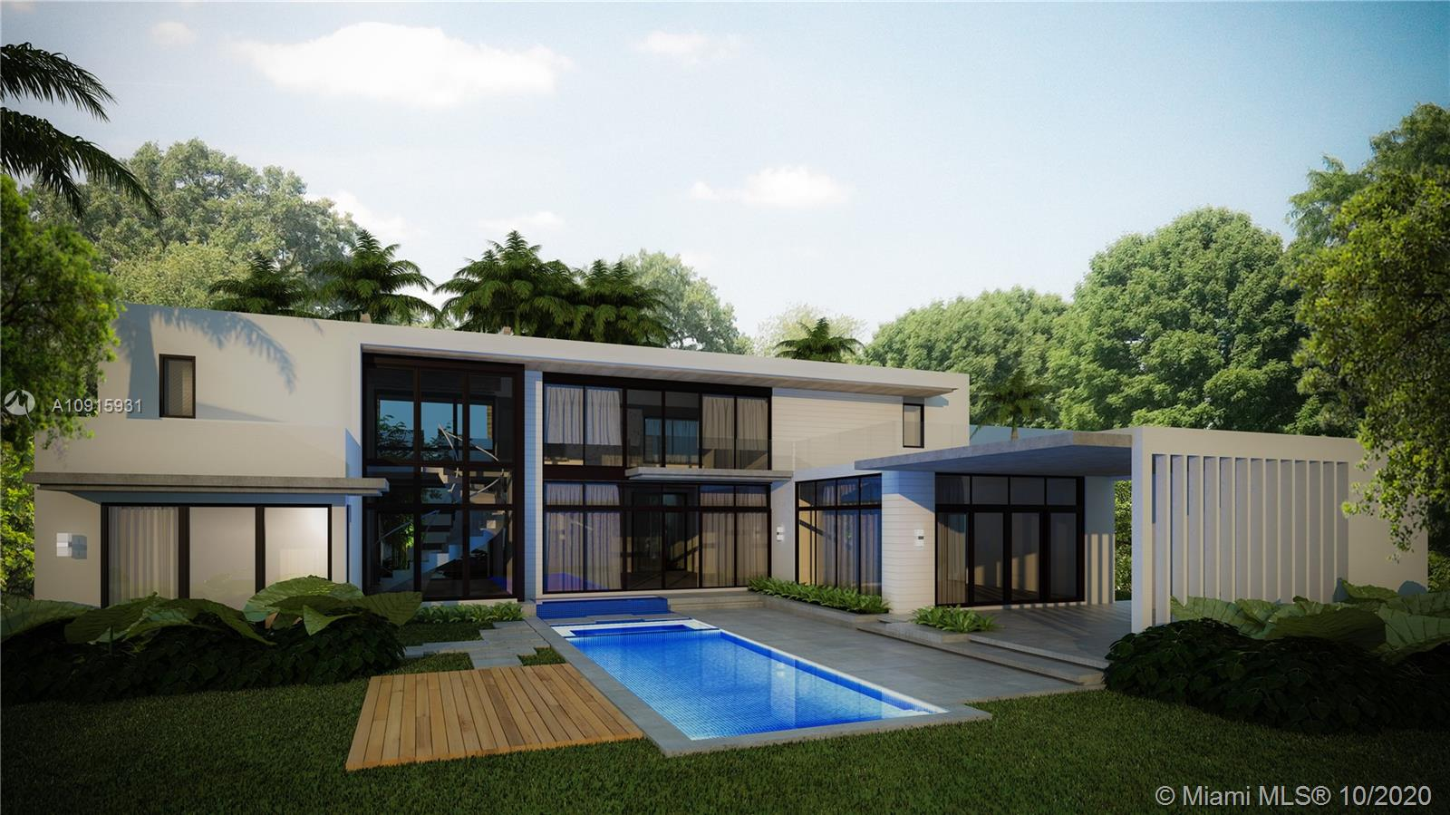 This brand new custom construction in Coral Gables is a modern dream:clean lines,vast windows,neutral palette, and a simple-yet complex–structure.Ideally located in South Grove.Located on a quiet street a mere 3 mins to the center of the town,this 6 be/6.5ba home offers approx 5,406SF (adj) on a 16,100 SF lot. This home is a collaboration of the industry's finest:Guimar Urbina Interiors, Nelson de Leon of Locus Architecture & CH Construction.The property will come with top of the Line European finishes such as Lualdi,Laufen,ArcLine & SubZero/Wolf.Flooring will be porcelain tile,wood,Limestone as well as Terrazo.The garden will offer a summer kitchen w/ Gas Grill & Outdoor refrigerator drawer by Subzero & a(heated) salt-water pool w/ Jacuzzi & LED lights. This is a rare 'custom' level home!
