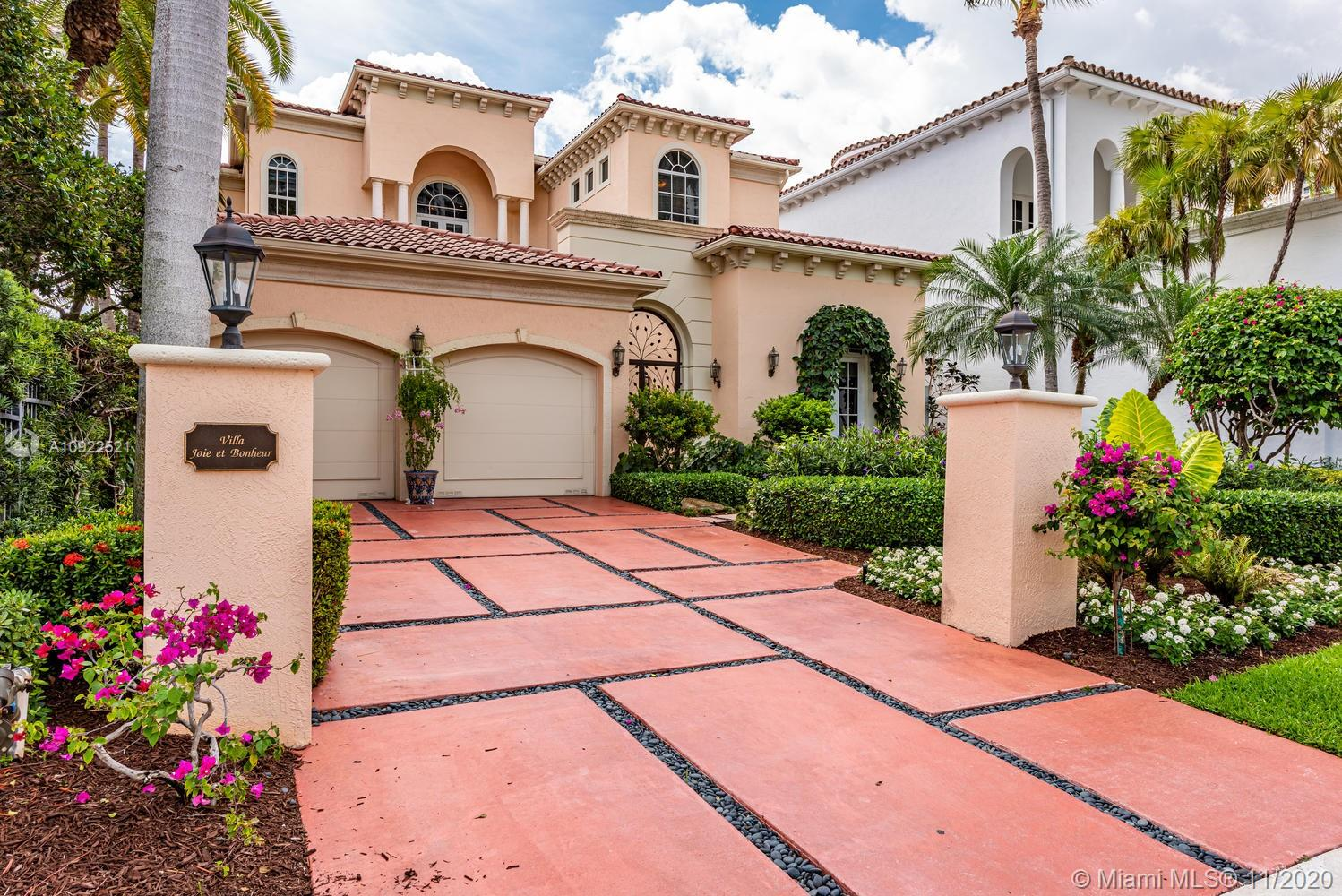 **LEAST ESPENSIVE HOME IN ISLAND ESTATES**  It's all in the details! - Private Island Living - Includes a 50' dock, 4 beds, 5 full bathrooms, 1 half bath & 4913 Sq Ft. Water views from every room, vast balconies on both floors overlooking the new sun deck & pool which sits on the open water/intracoastal. The interiors were created by artisans where every wood plant and detail was an art installation in itself. HOA includes unfettered access to Prive amenities which include 2 spas, 2 state of the art gyms, 2 full service pools, tennis courts, walking paths, 2 extensive wine & cigar rooms, luxury meeting space & much more. This luxurious home is a must see and truly one of a kind!