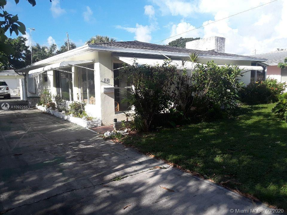 What an opportunity to own this home in Dania Beach only 8 MINUTES to the BEACH! This is a 2 bedroom with an extra room that can be another bedroom or extra den. This property also has a fully equipped efficiency in the back with its own entrance that has a kitchen and bathroom for INLAWS or extra rental income!! The property has a great size lot and a very large driveway . Fire Place and chimney and a screened patio.The home needs TLC but the possibilities are endless! More Photos will be posted today PLEASE FOLLOW COVID GUIDELINES. PLEASE WEAR MASKS.