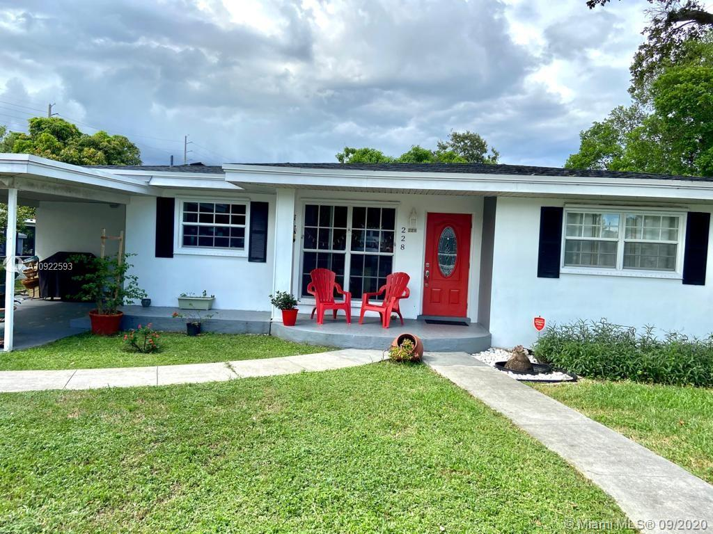 This beautiful gem is located in Dania Beach just minutes from the ocean, Ft. Lauderdale Airport, casinos, and much more! This home is a 2 Br/1 Bth with an attached 1 Br/1 Bth in-law suite on an oversized lot with potential to expand. It features ceramic flooring throughout, new appliances and new roof with solar paneling. The home is situated on a quiet street where your family/guests can enjoy a spacious backyard perfect for entertaining! The main home features a welcoming living/dining room, laundry room, terrace, carport, and shed. The in-law suite features its own private entrance and is set up as a fully licensed AirBnb and fully booked throughout the year creating great revenue. It has a master bedroom with a walk-in closet, private bath, kitchen, and dining/living room.