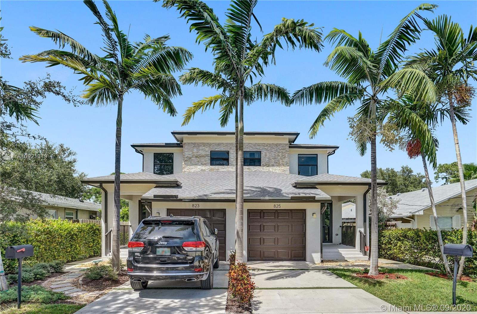 Beautiful townhome built in 2017 located in the heart of Fort Lauderdale. Just East of US-1 and North of 17th St Causeway and minutes from the beach, the new Whole Foods and all shopping areas. Open and modern floor plan with large family/dining area and breakfast area. Wood plank ceramic tile throughout the first floor and hard wood stairs. All windows and doors are hurricane impact glass and have custom blinds. Gourmet kitchen with Quartz Countertop & SS appliances. Spacious master suite with walk in closets and luxurious master bath. Laundry room conveniently located on the second floor. Private fenced backyard with a patio, room for a pool and outside extra storage. NO Association, no fees, no rules and regulations!