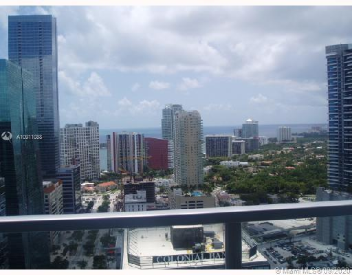 BEAUTIFUL FURNISHED STUDIO on 23th floor,   spectacular views , big balcony, top of the line kitchen,   Concierge service, parking space assigned, security, spa, gym, amenities, etc.   Luxury High rise condo on heart of Brickell !!!! Building across from Flatiron building, Merry Brickell shopping center and walking distance to Brickell City Center, cafes, restaurants, supermarket and Metro mover & Metro rail. Available June 15, 2021. Easy to show.