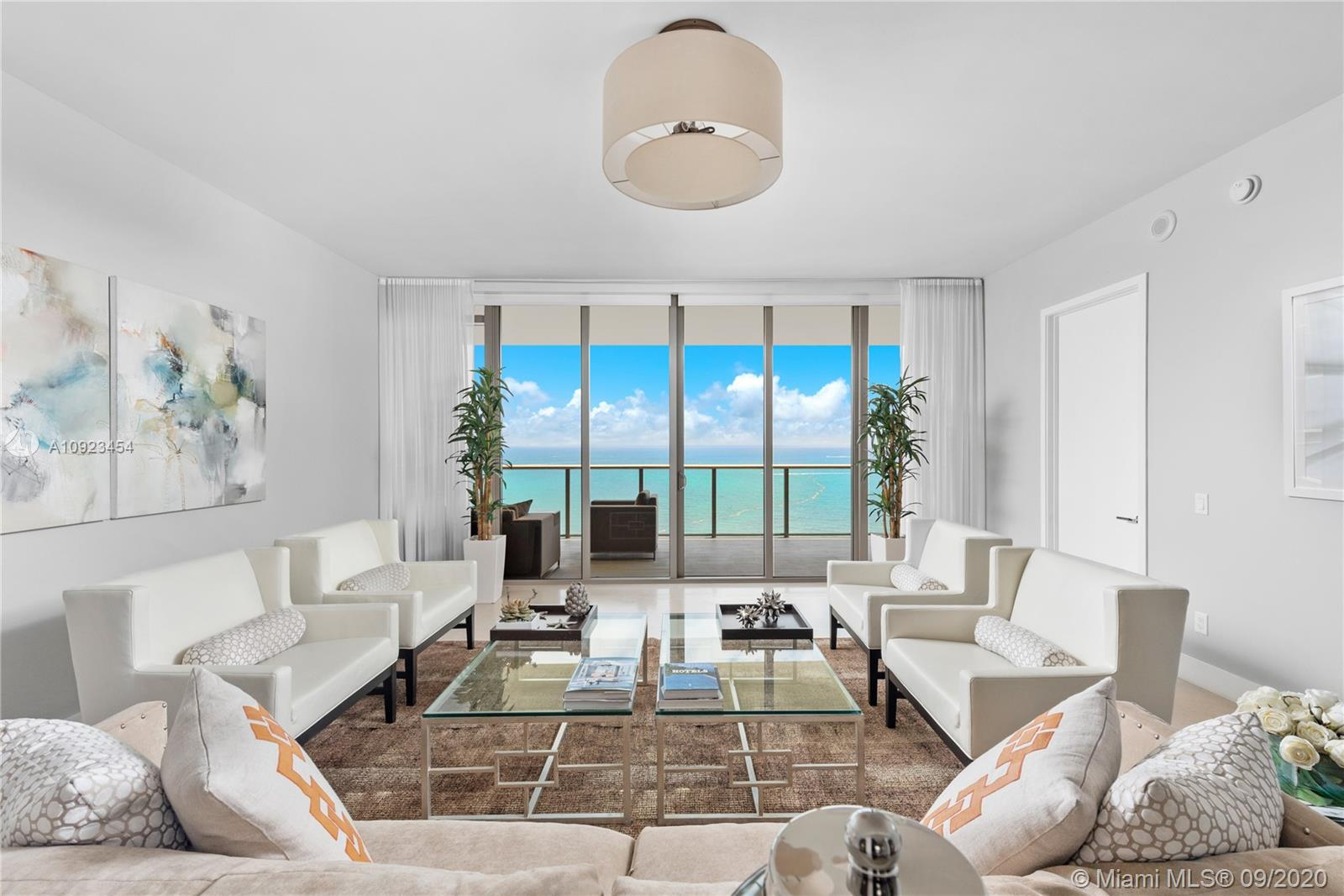 A stunning three bedroom unit at the St Regis Resort in Bal Harbour. This high floor unit has direct pristine ocean and bay views which can be enjoyed from floor-to-ceiling windows and large balcony. Offering a 3,424 sq ft interior, this flow-through floor plan features 36-inch marble floors and electric blinds throughout and is ready for occupancy. Enjoy a vacation lifestyle in Miami's only 5-star oceanfront hotel/residence with top tier resort-style amenities and unparalleled service. St. Regis is COVID-compliant and offers endless opportunities to indulge and create your own resort lifestyle experience.