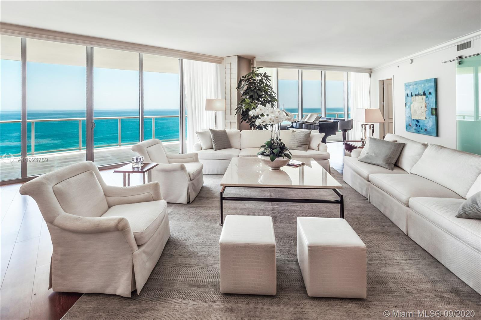 St. Regis 1900 is ideally perched on the 19th floor at St. Regis's center tower offering breathtaking views of the ocean as well as the coastline to the north and south. The unit boasts a 1,304 sq ft terrace with ample room for entertaining or simply enjoying the vistas and sea air. Designed with impeccable taste and style, 1900 offers a spacious interior living area, wood floors, state of the art kitchen, a spacious master suite with walk-in closet, and a private elevator foyer. Residents enjoy VIP access to all St. Regis hotel amenities, Remede Spa, cabanas, 24-hour concierge, valet, housekeeping, restaurants, room service, chef, white-glove butler services, and more. St. Regis is COVID-compliant and offers endless opportunities to indulge and create your own resort lifestyle experience.